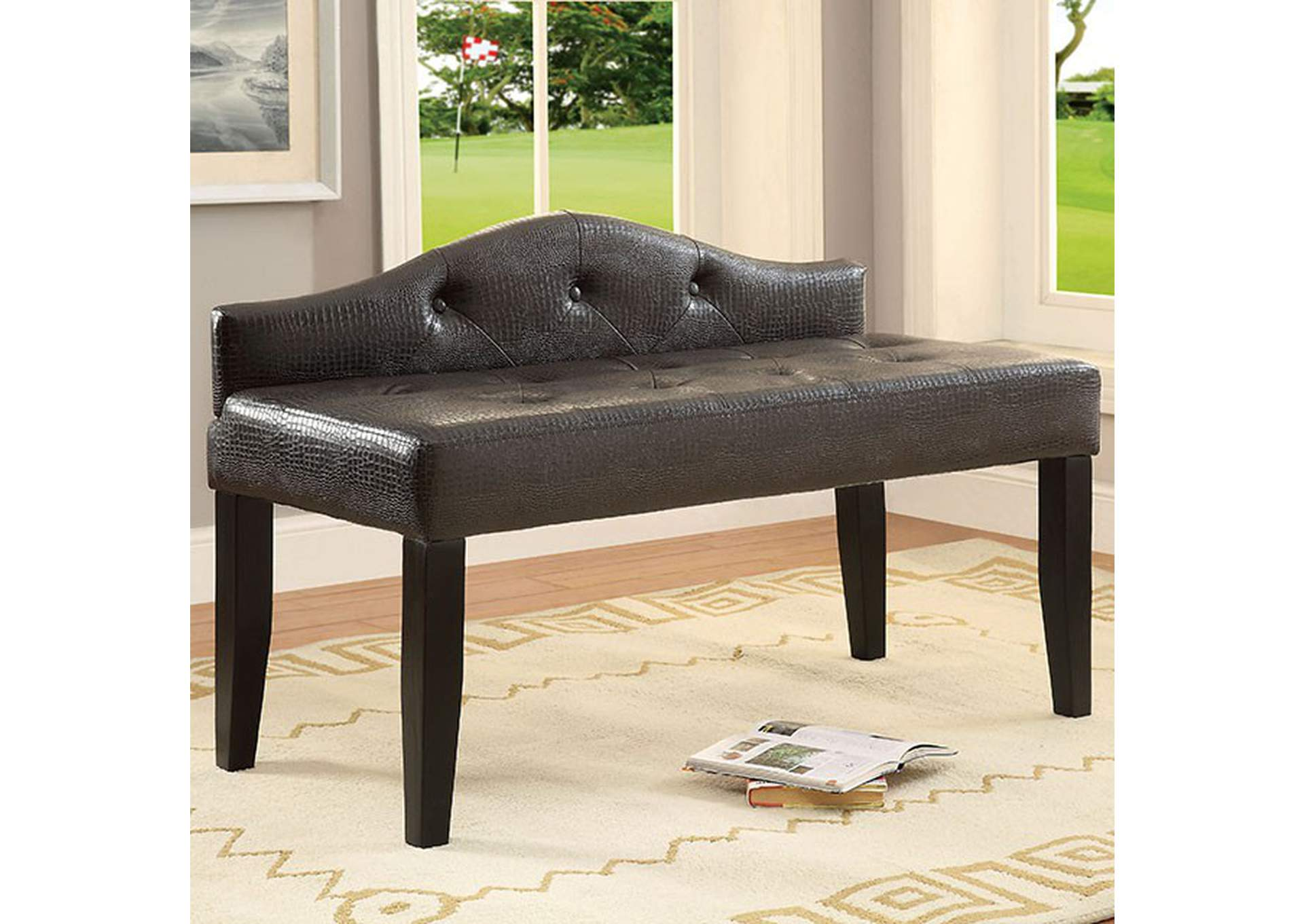 Alipaz Brown Bench,Furniture of America
