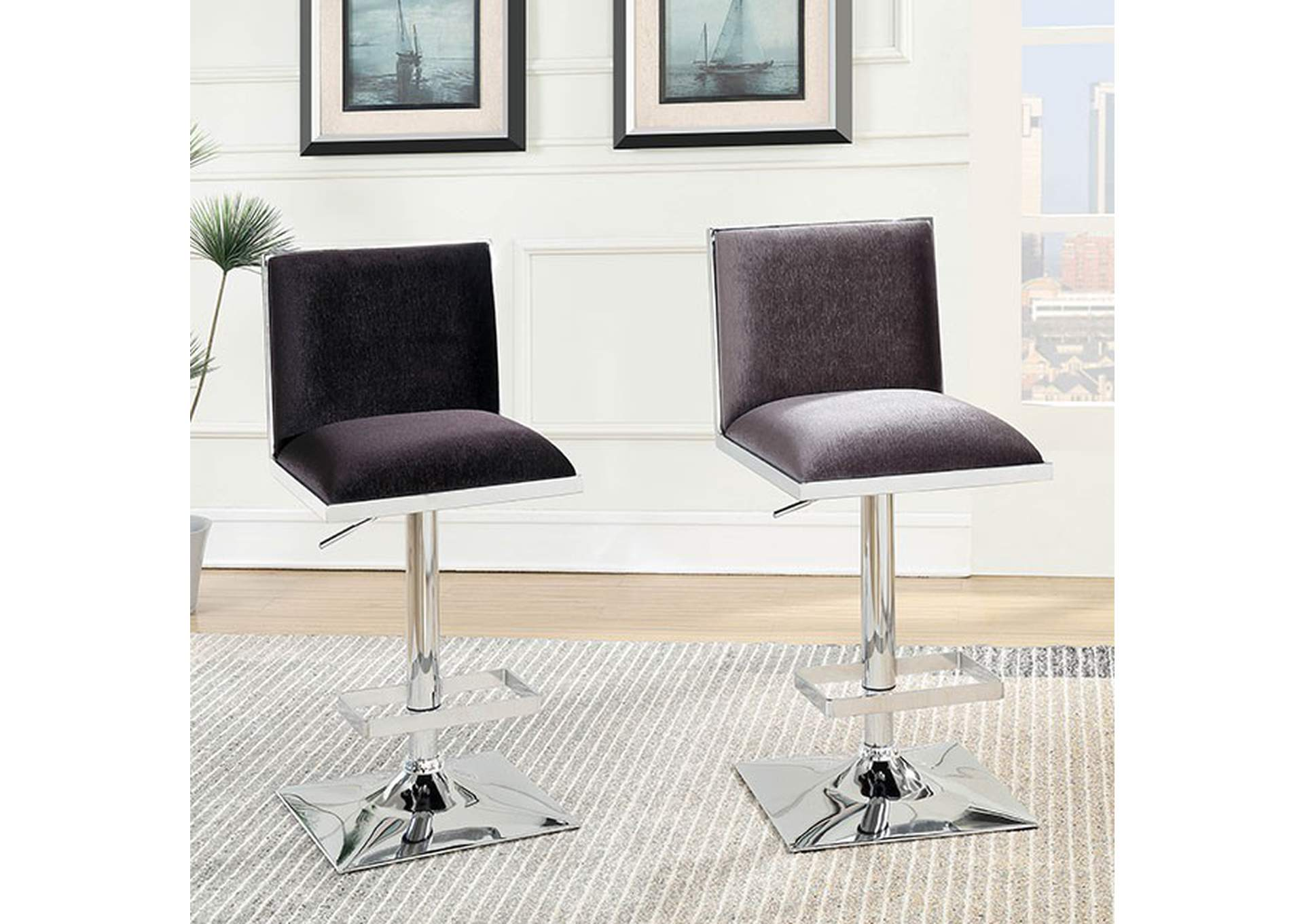 Orjan Gray Bar Stool,Furniture of America