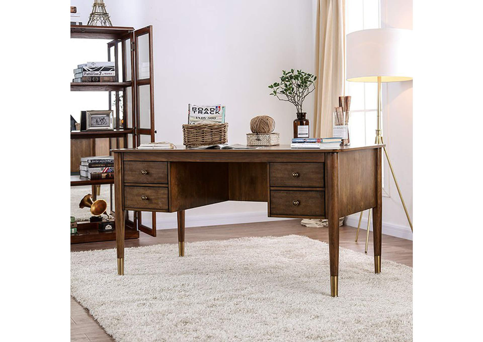 Reliance Antique Oak Desk,Furniture of America