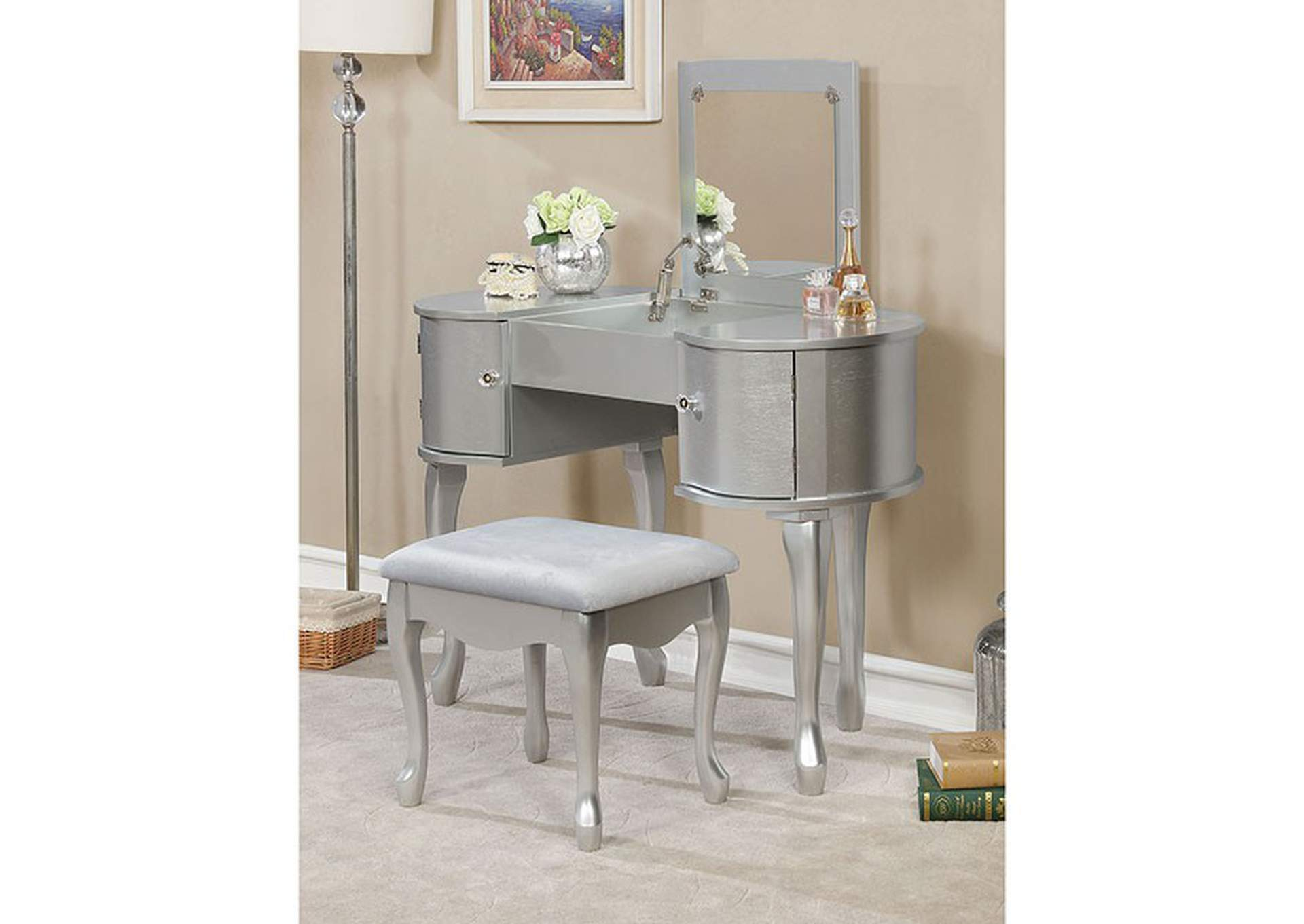 Lilita Silver Vanity Set,Furniture of America