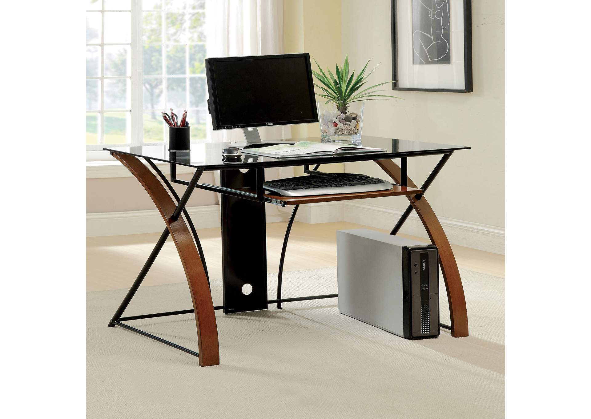 Baden Oak Computer Desk,Furniture of America