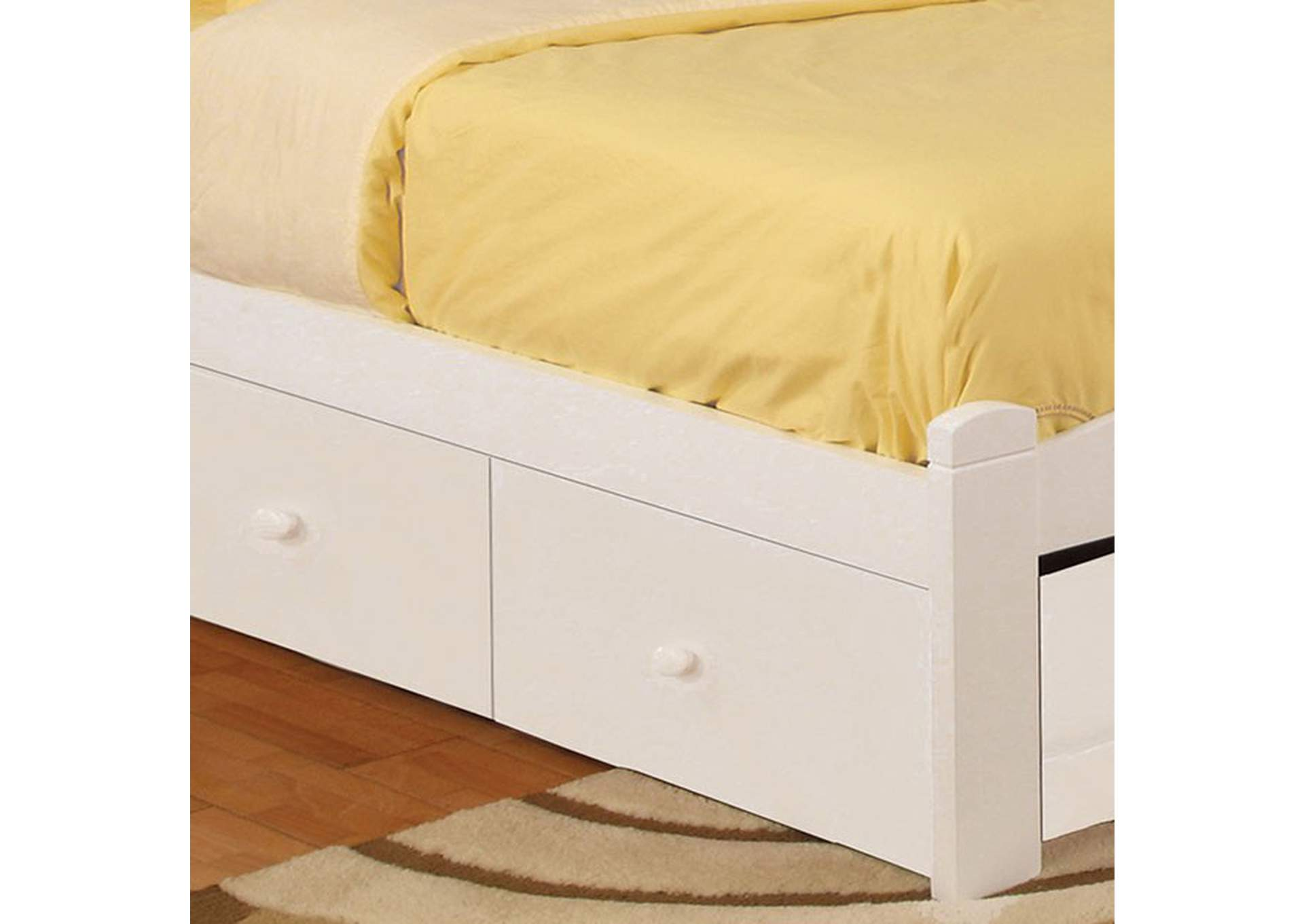 Omnus White Underbed Drawers,Furniture of America