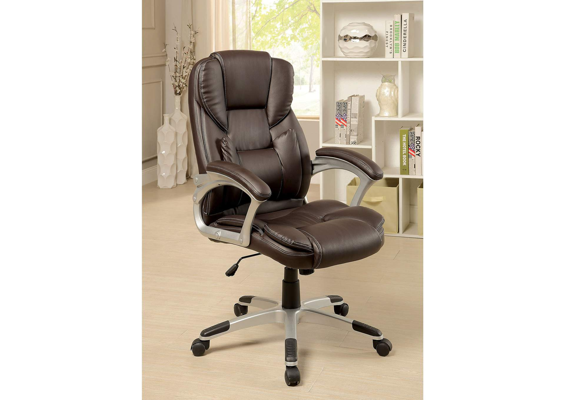Sibley Brown Office Chair,Furniture of America