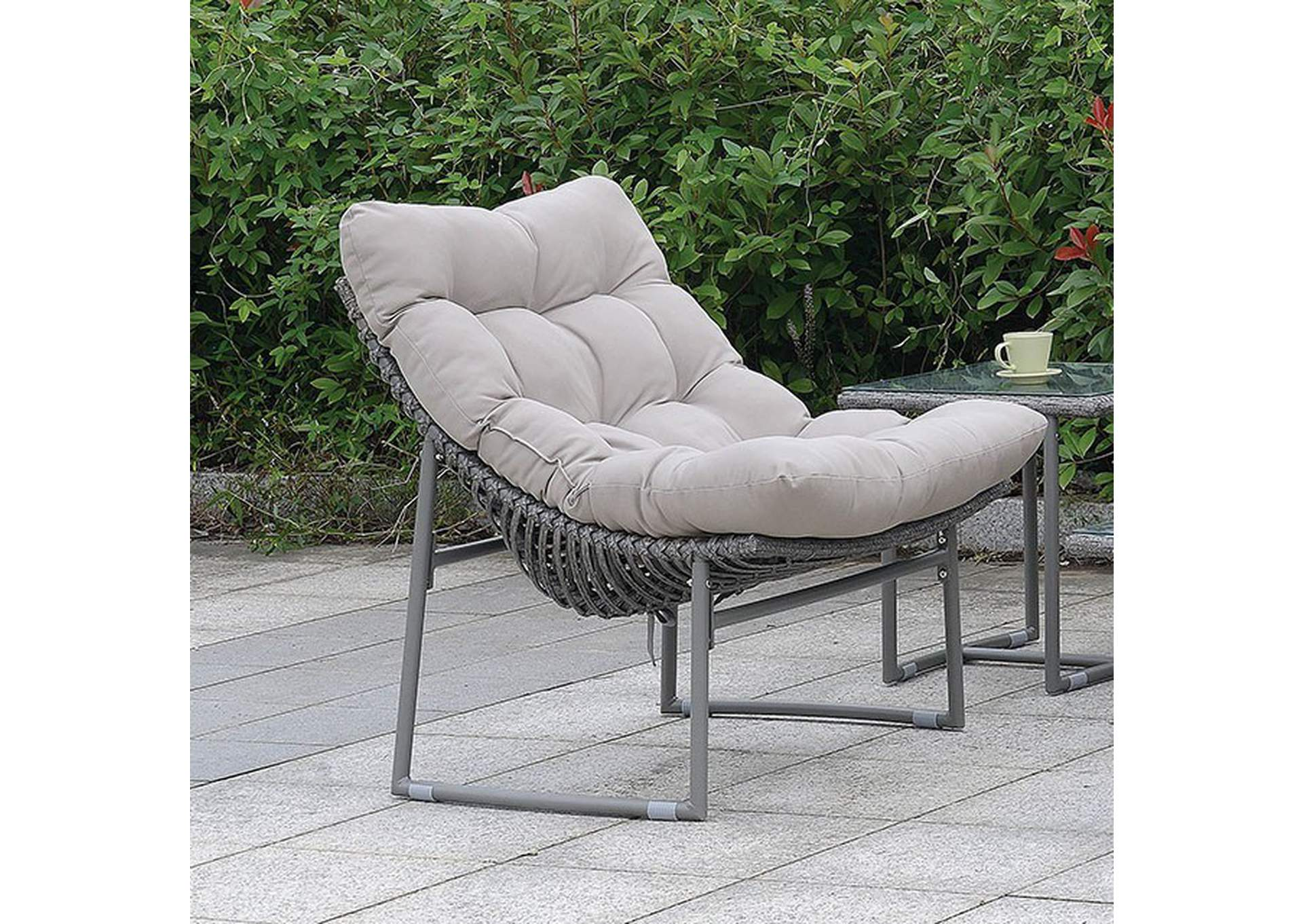 Amya Gray Cushioned Chair,Furniture of America