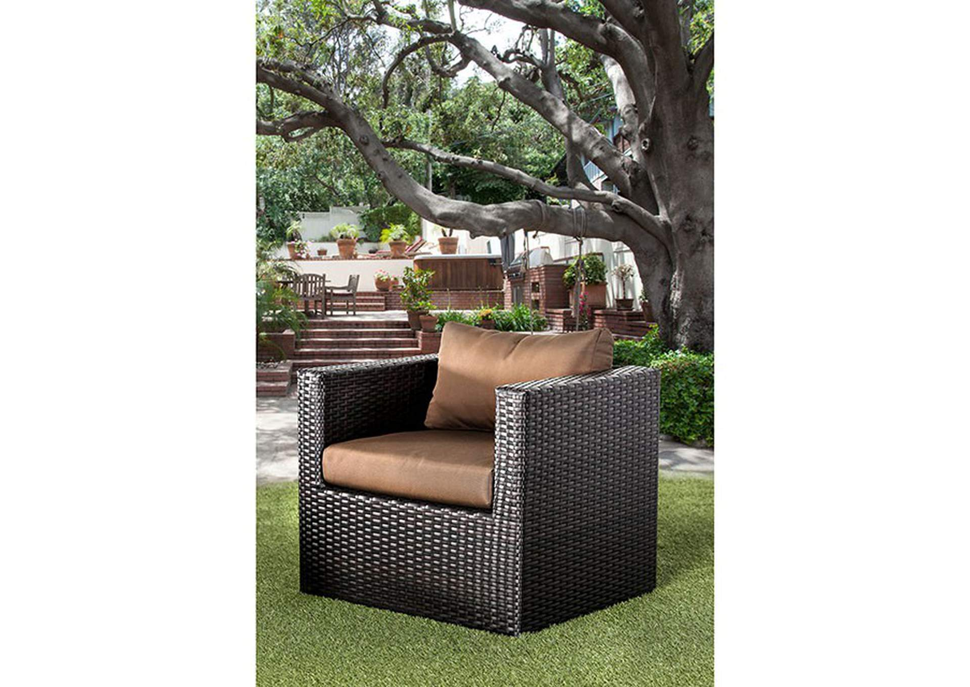 Olina Brown Patio Sofa Set,Furniture of America
