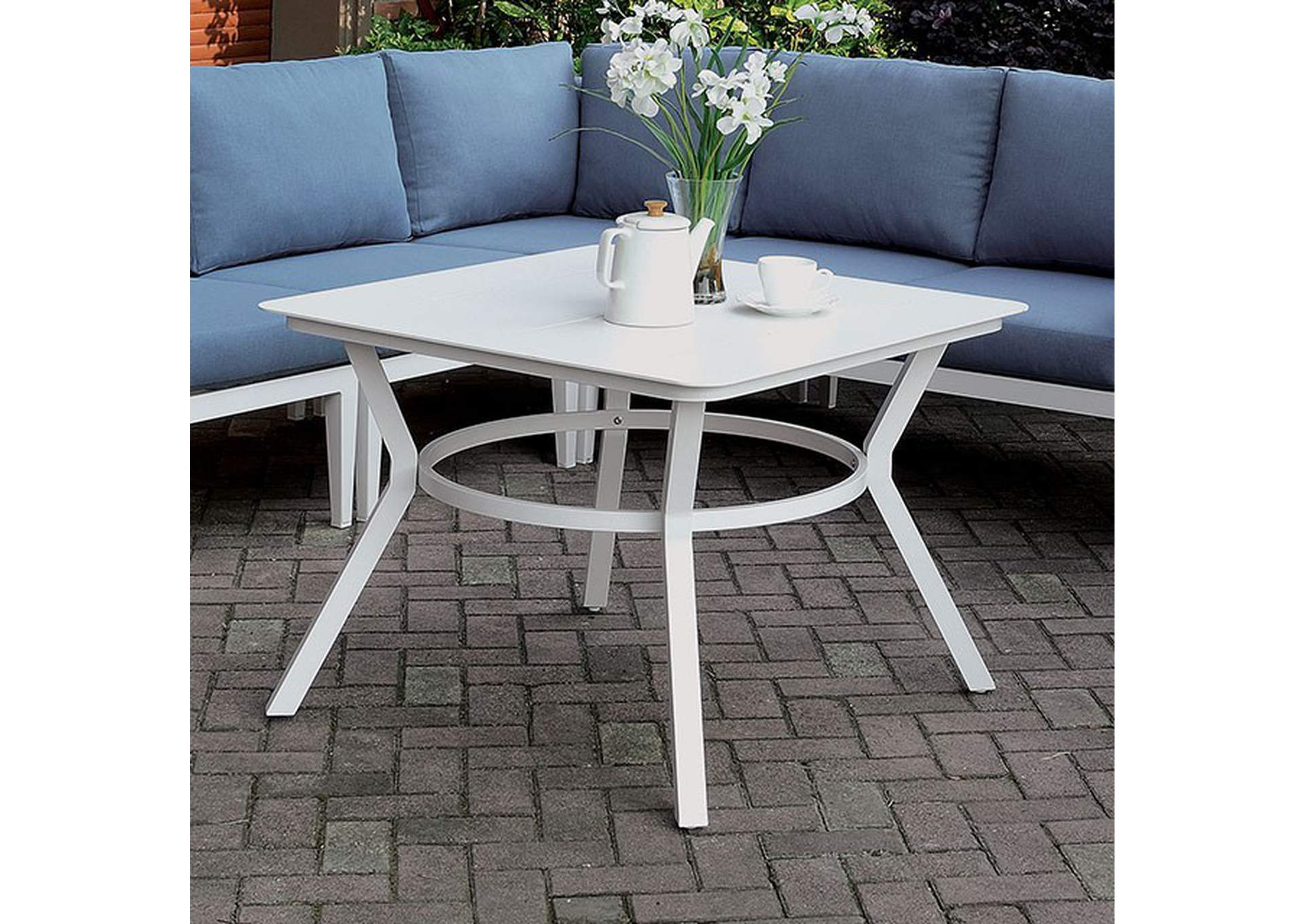 Sharon White Patio Table,Furniture of America