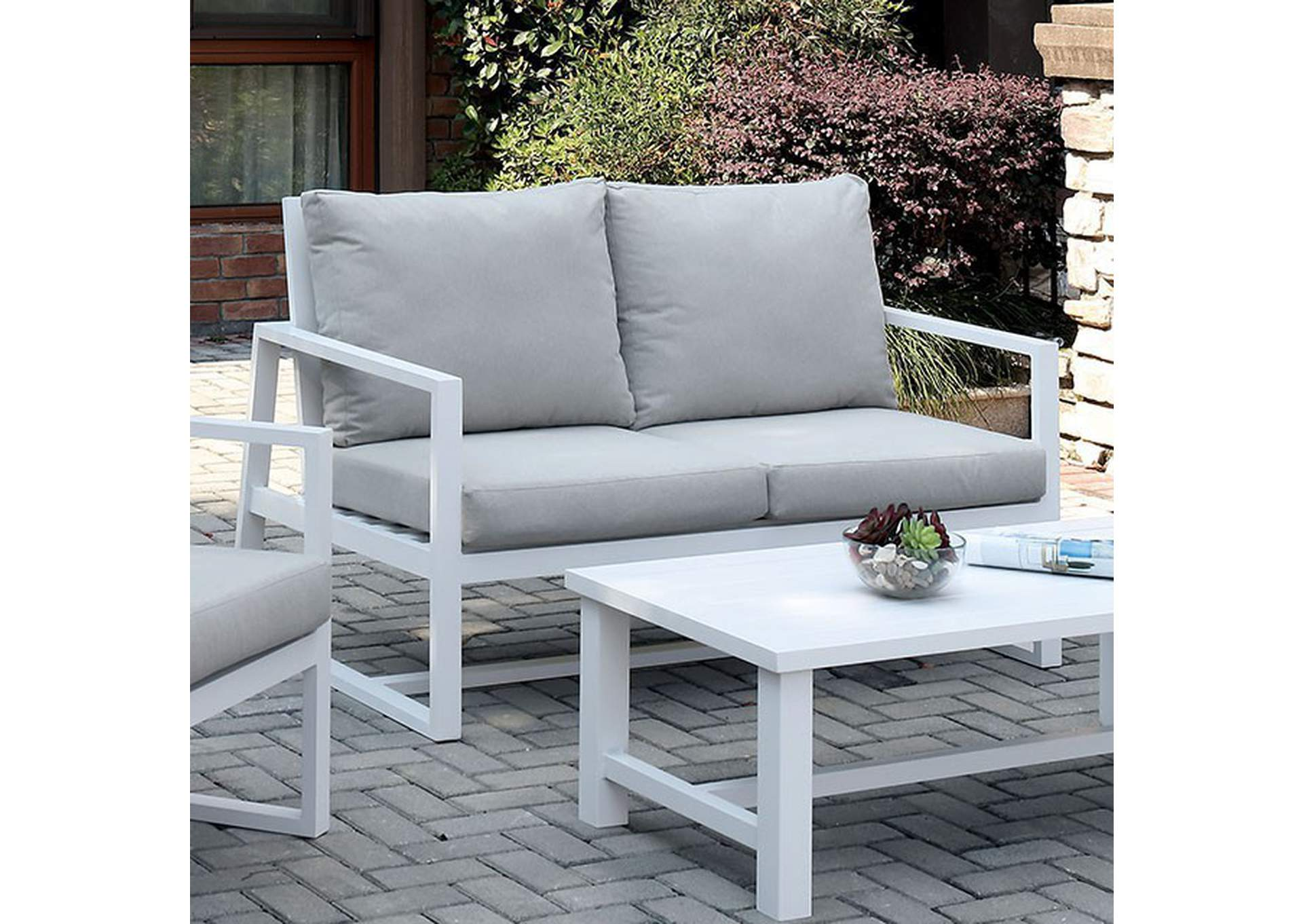 India Beige Patio Loveseat,Furniture of America