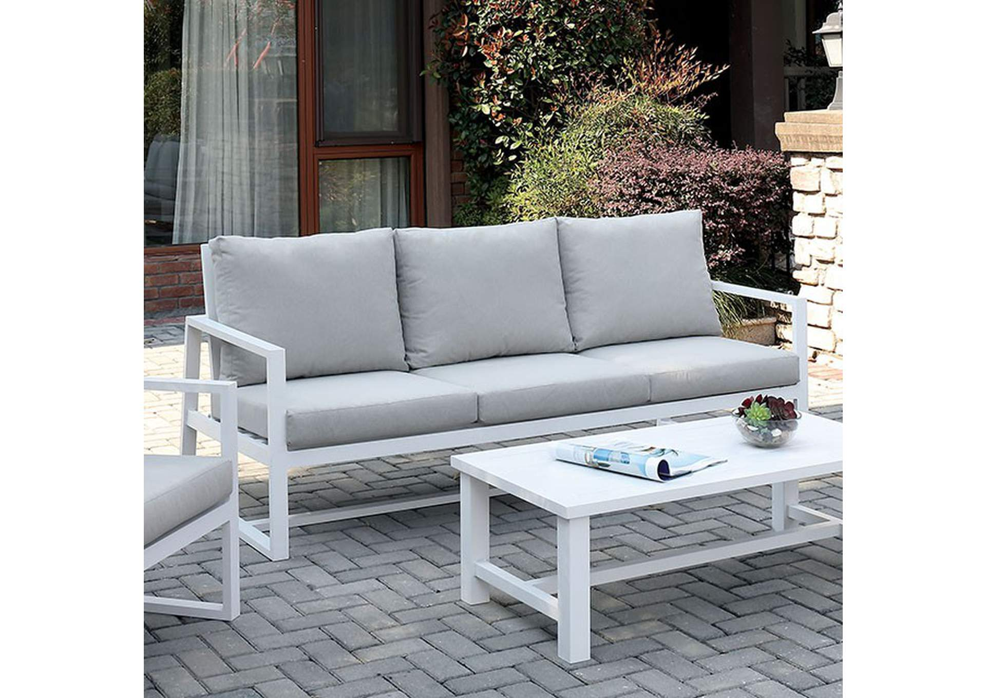 India Beige Patio Sofa,Furniture of America