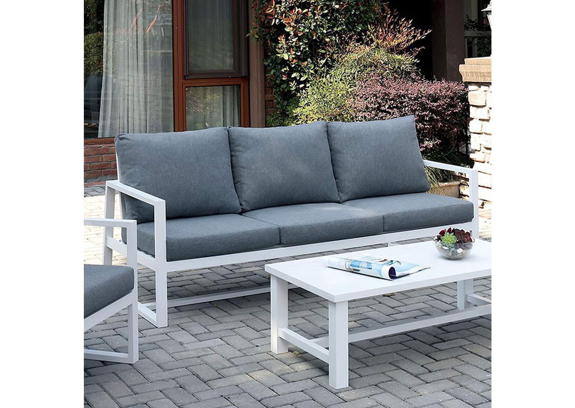 India Gray Patio Sofa,Furniture of America