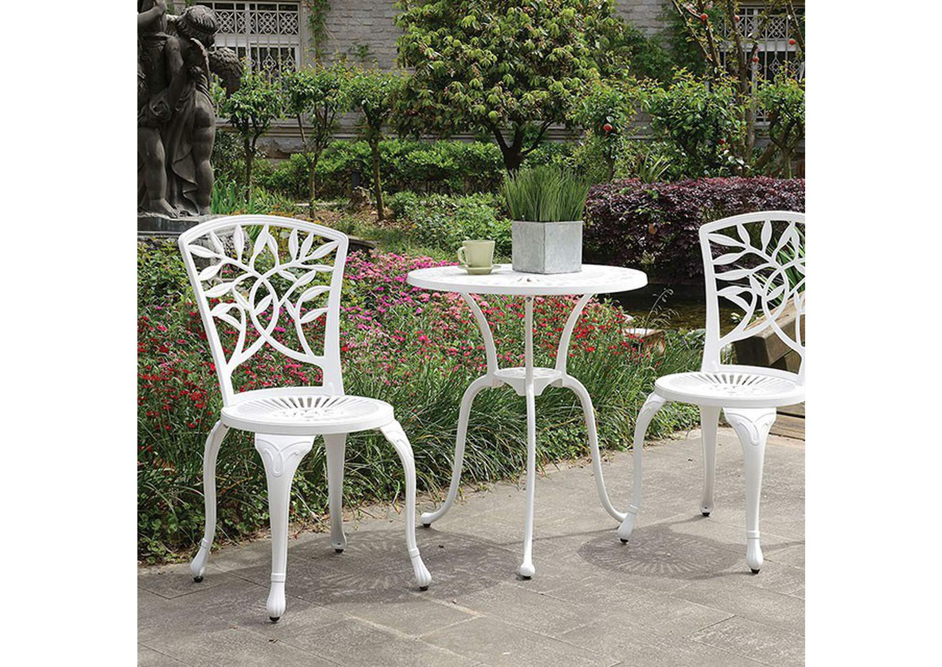Courtnay White Bistro Table Set,Furniture of America