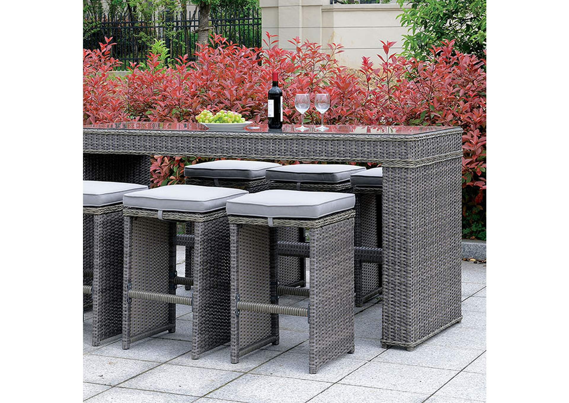 Ismay Gray Patio Table,Furniture of America