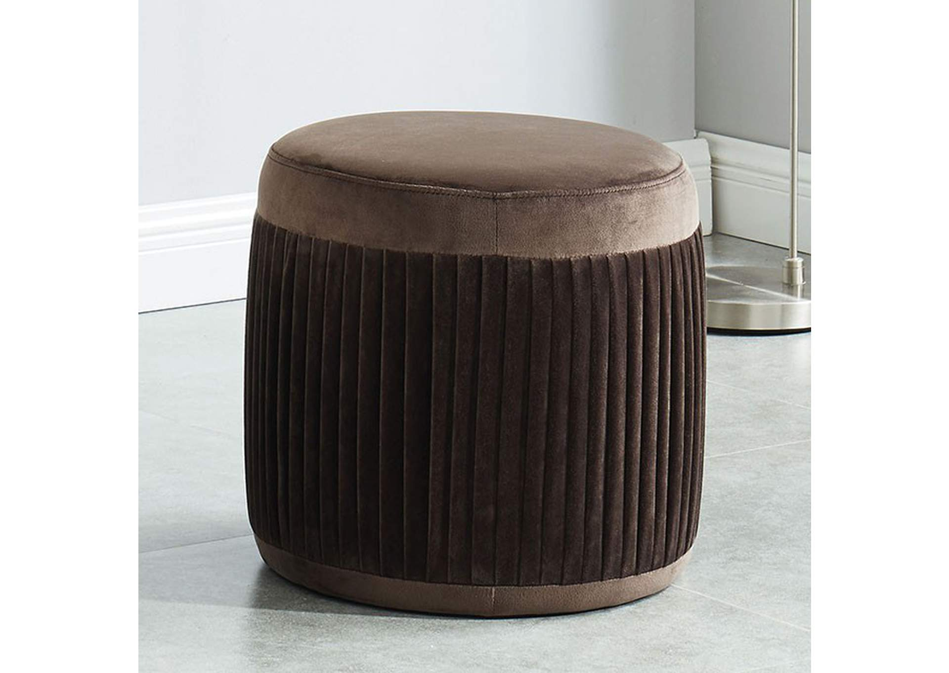 Revel Brown Ottoman,Furniture of America