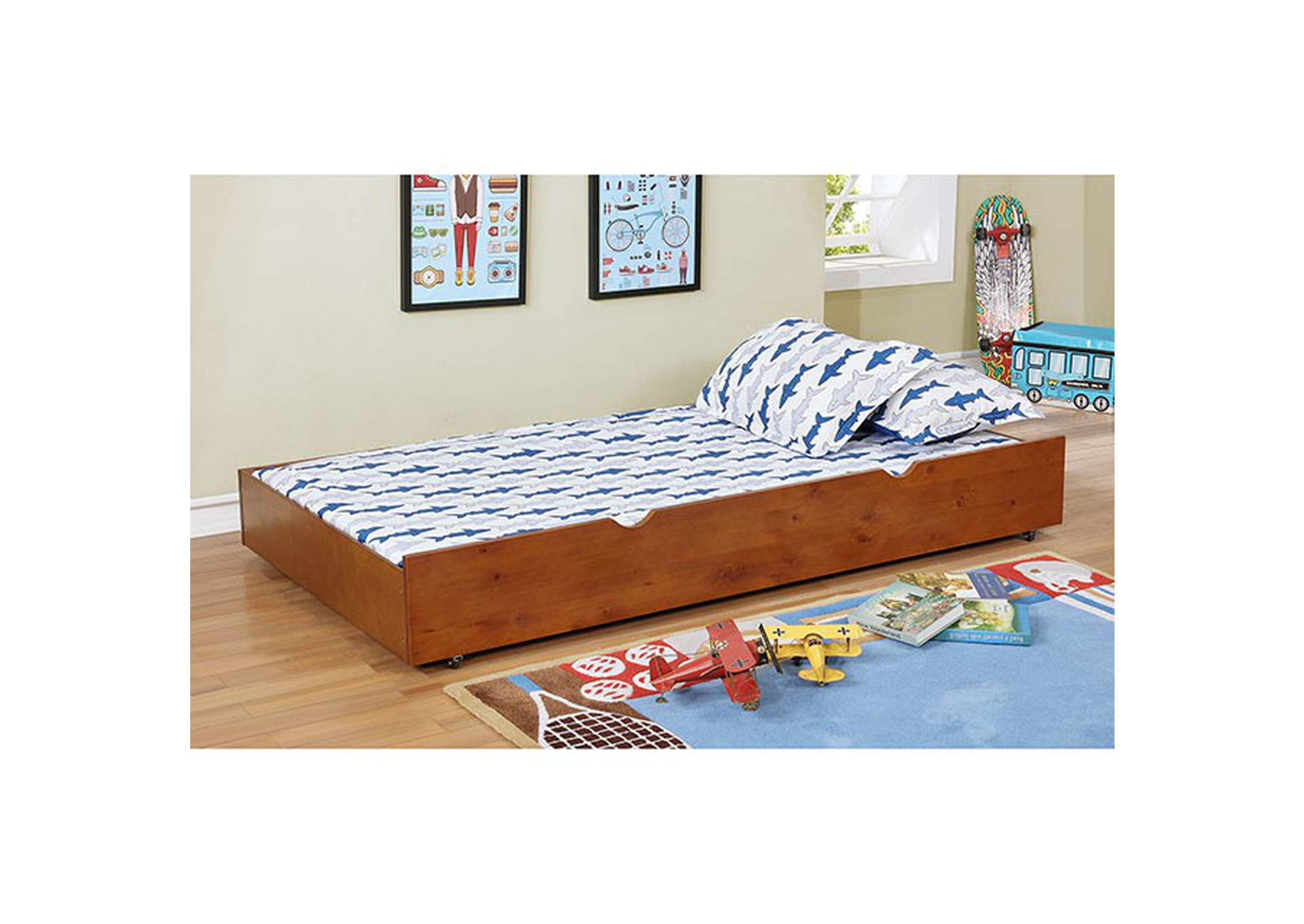 Grano Oak Trundle,Furniture of America
