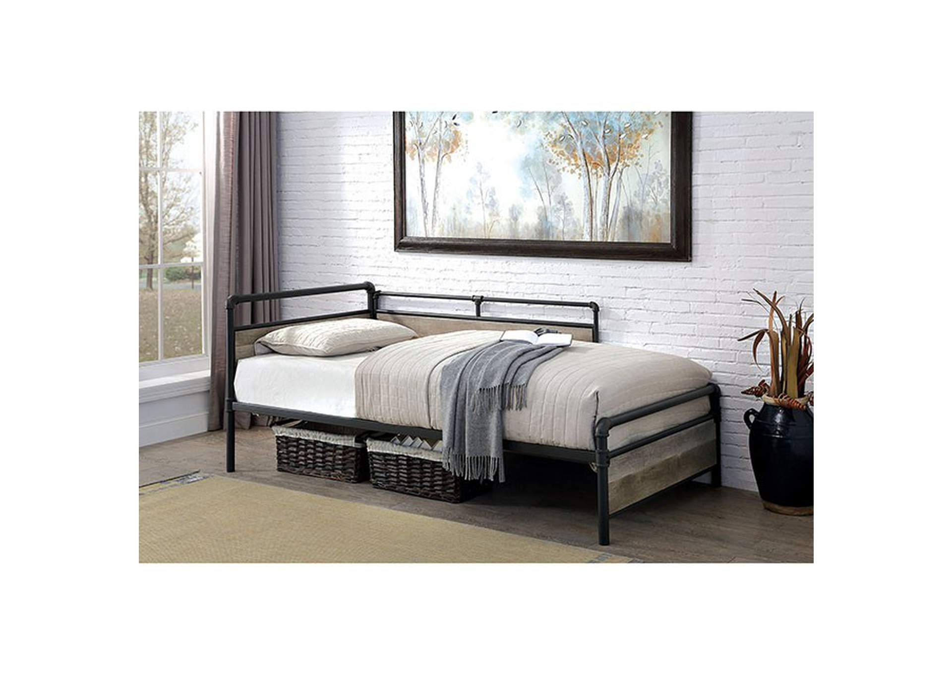 Vidar Sand Black Daybed,Furniture of America