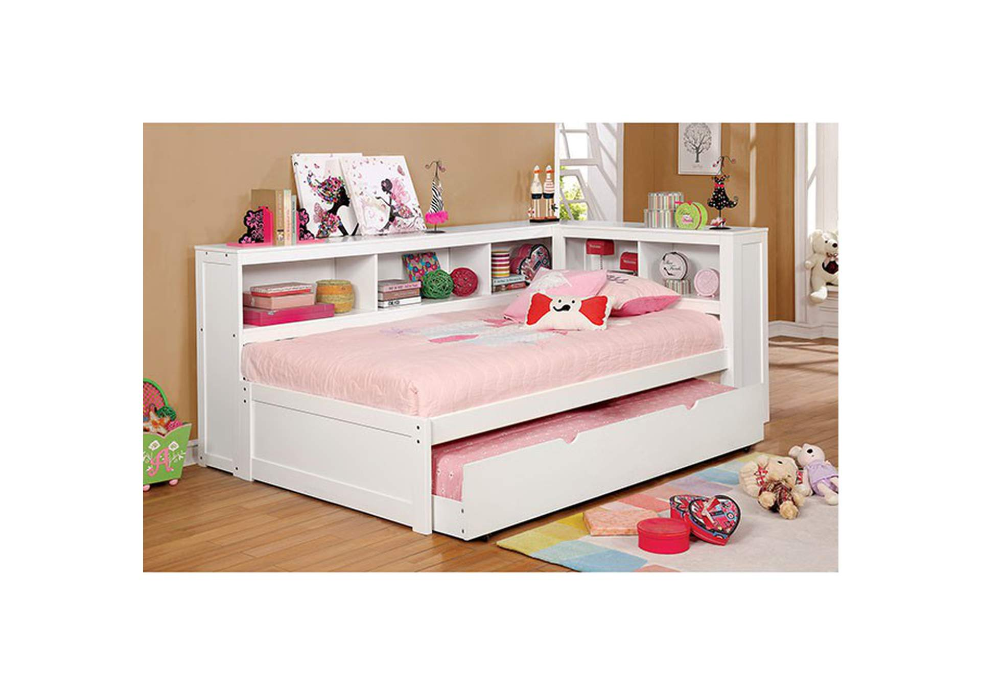Frankie White Twin Daybed,Furniture of America