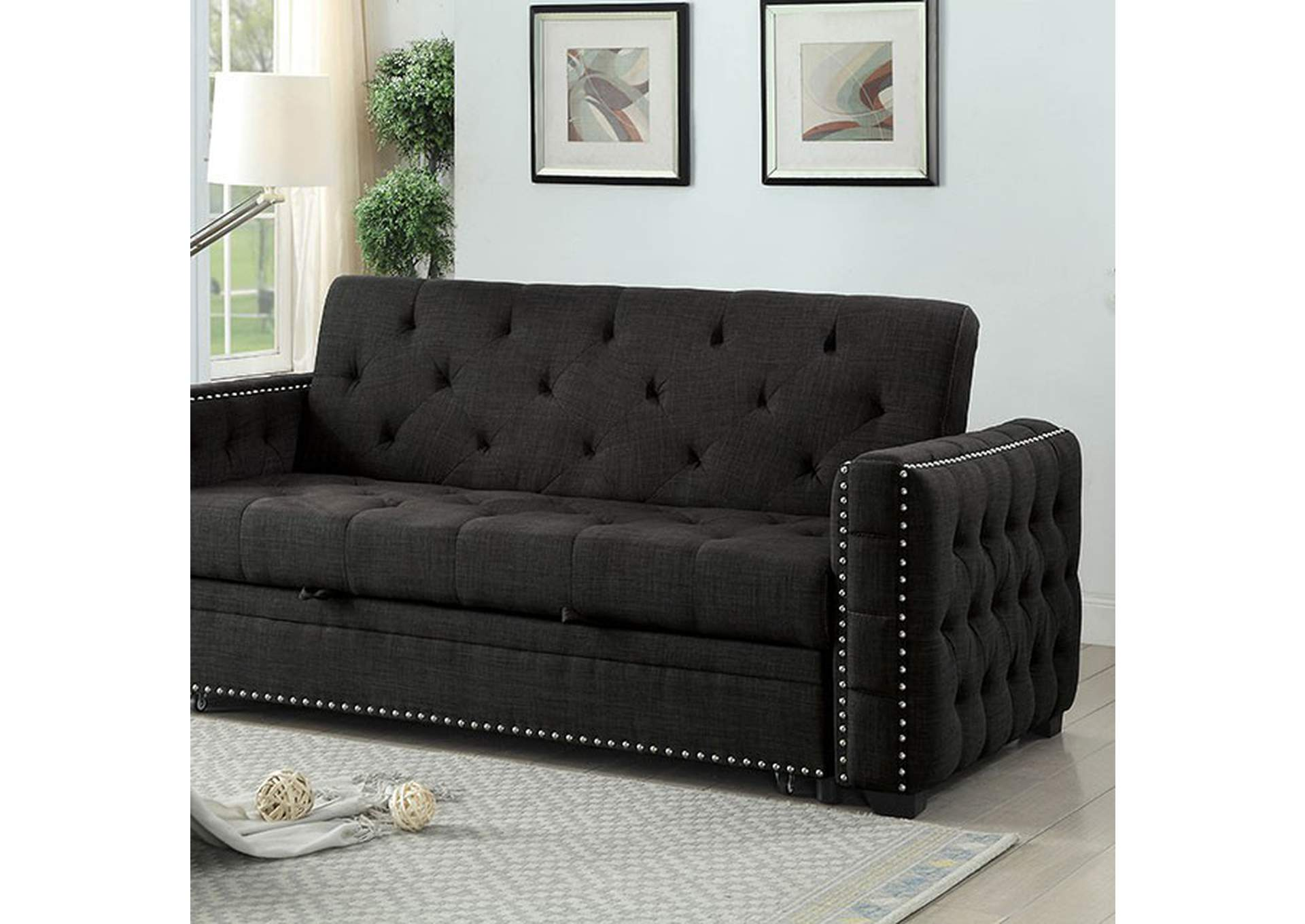 Leonora Futon Sofa,Furniture of America