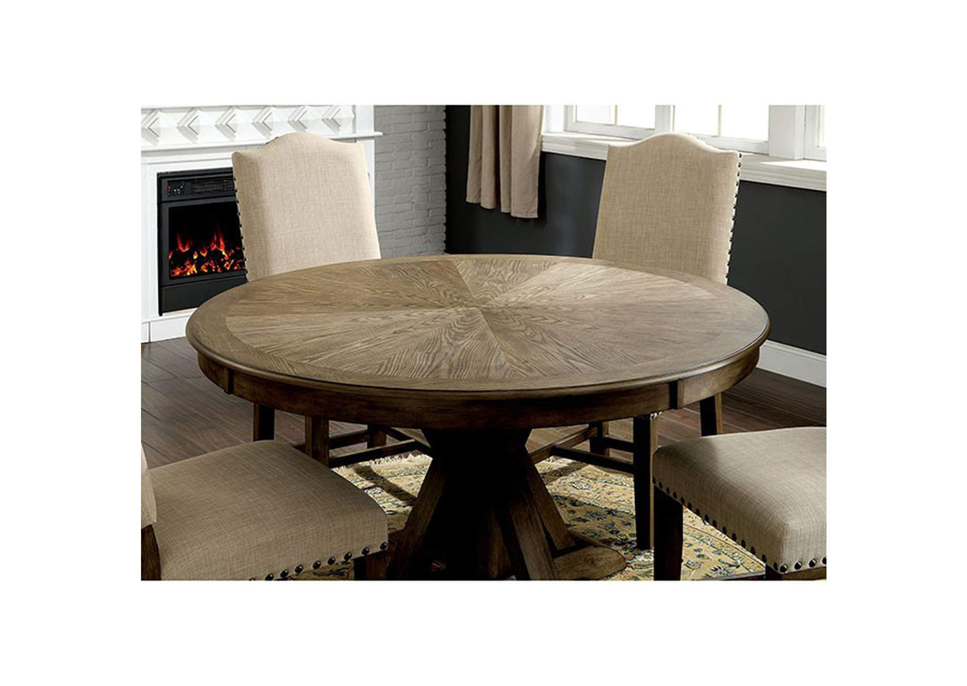 Julia Light Oak Dining Table,Furniture of America