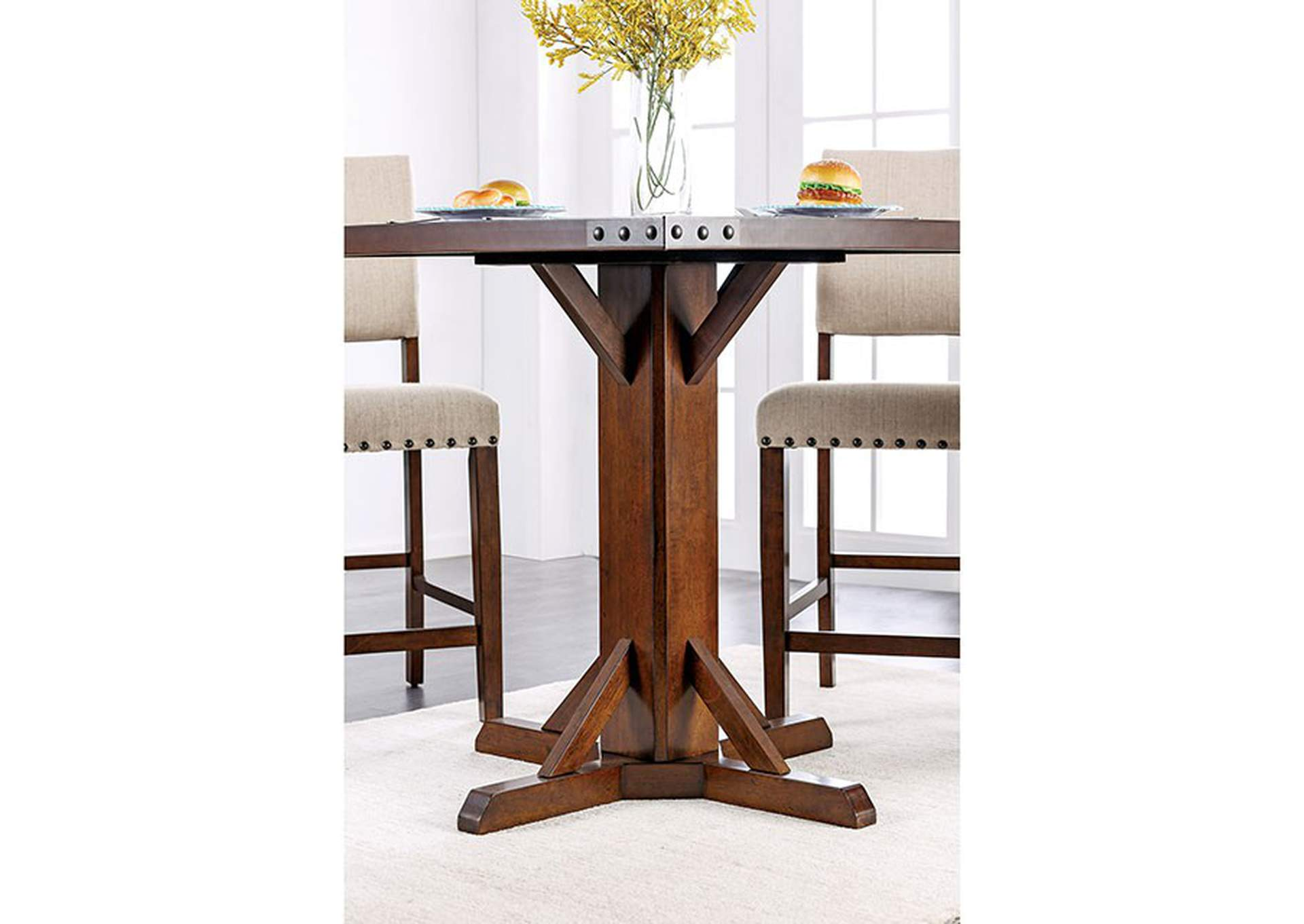 Glenbrook Brown Cherry Counter Height Table,Furniture of America
