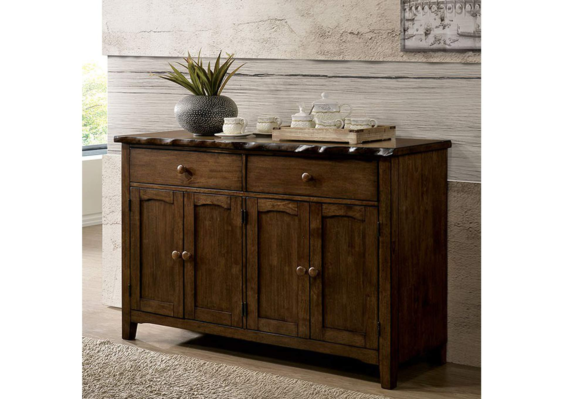 Woodworth Walnut Server,Furniture of America