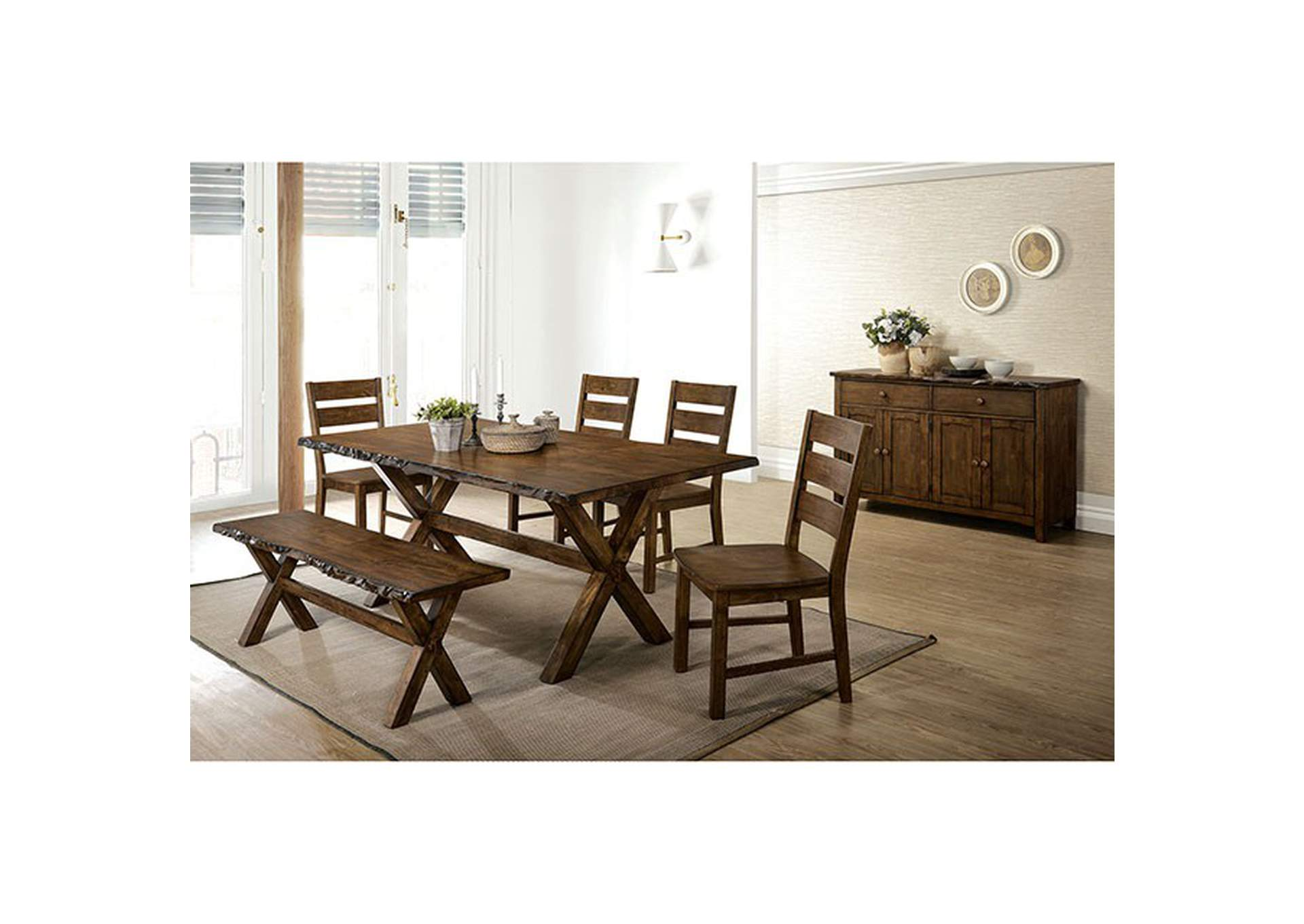 Woodworth Brown Dining Table,Furniture of America
