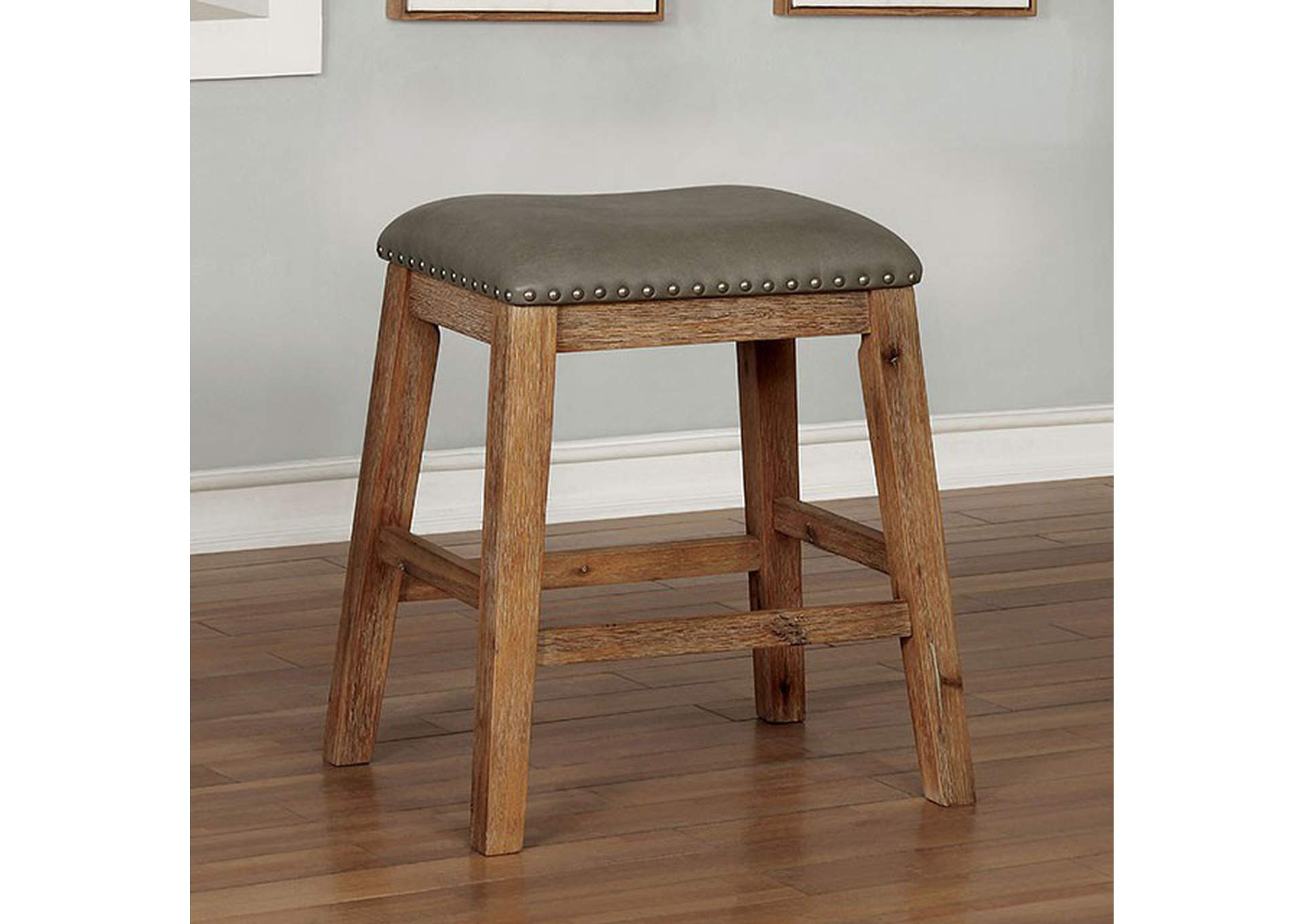 Lana Weathered Natural Tone Counter Height Barstool,Furniture of America