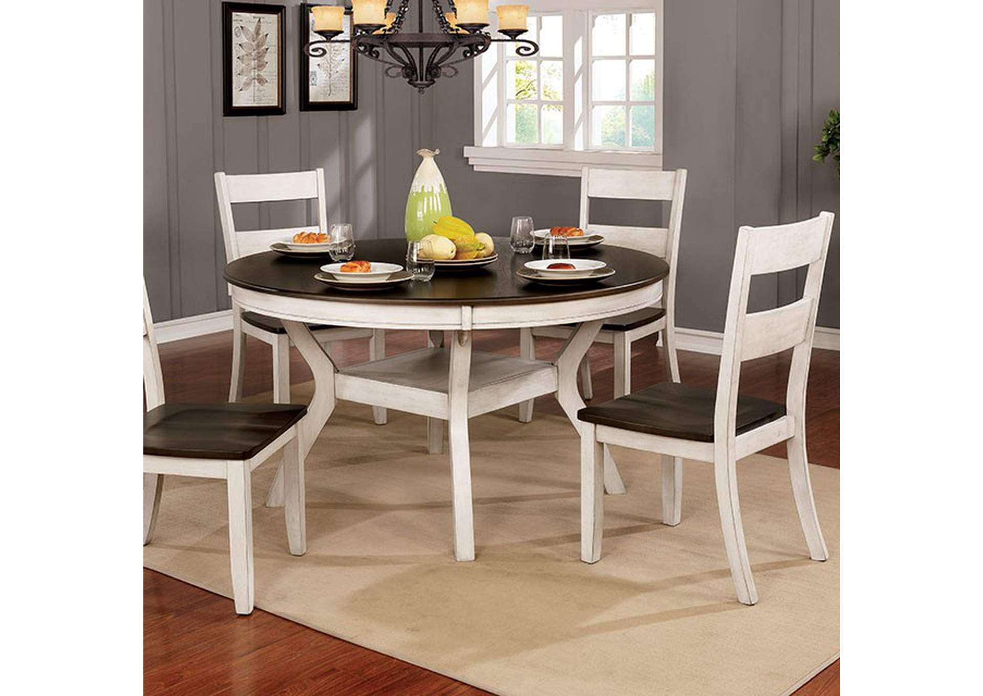 Juniper Antique White Dining Table,Furniture of America