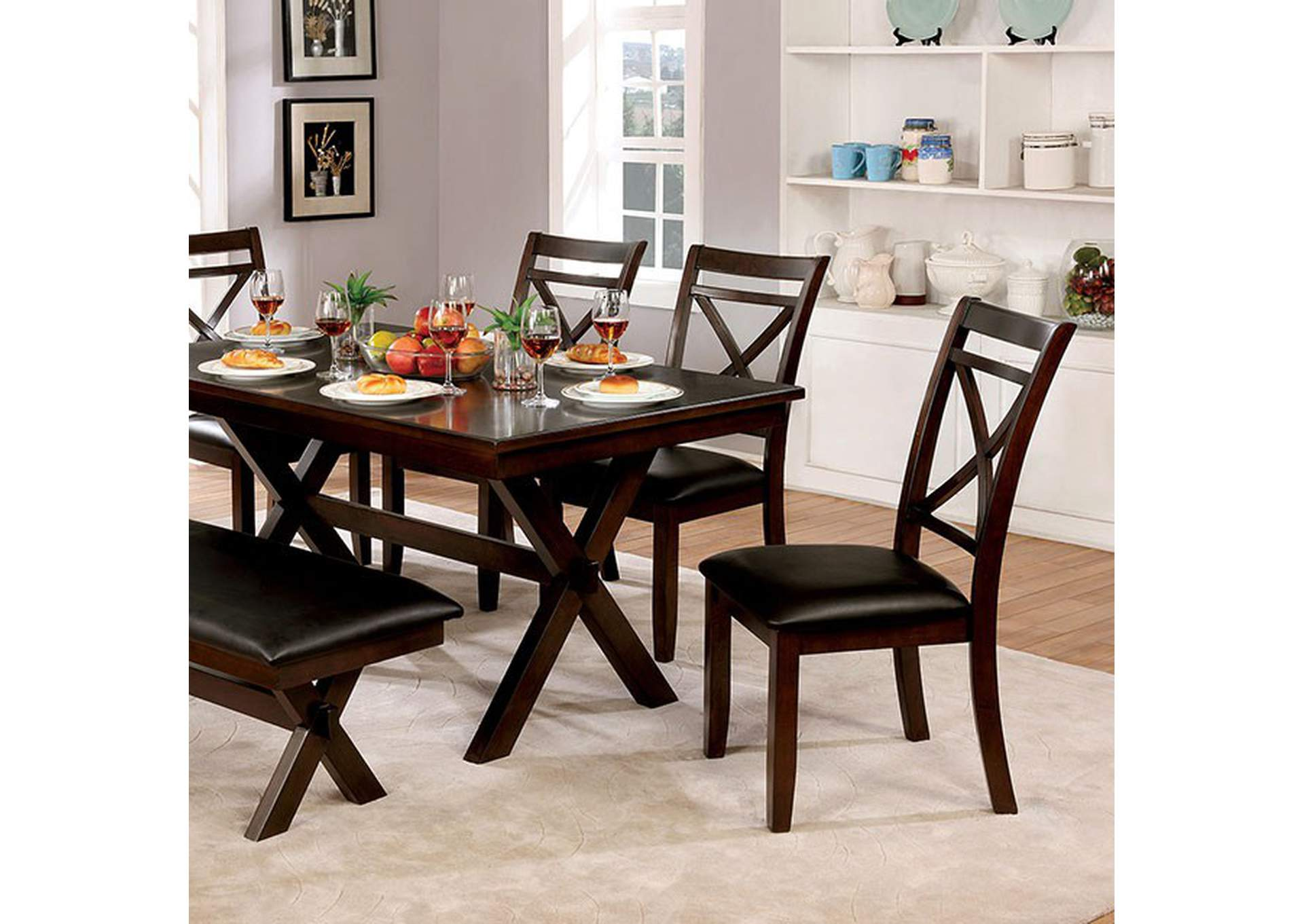 Jolie Black Dining Table Market Furniture - Paterson, NJ
