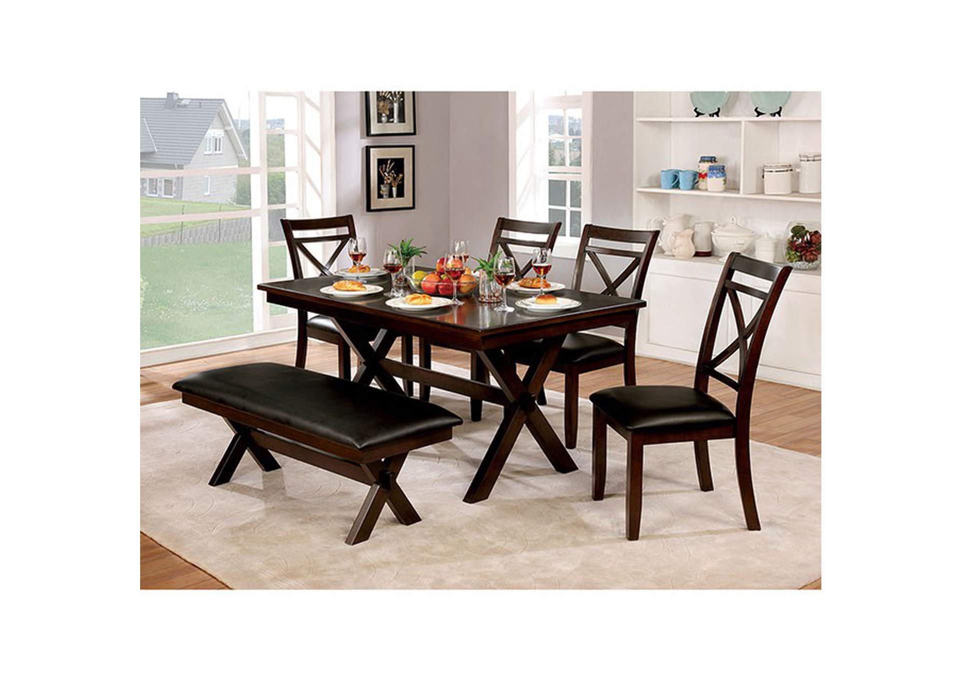 Jolie Black Dining Table,Furniture of America
