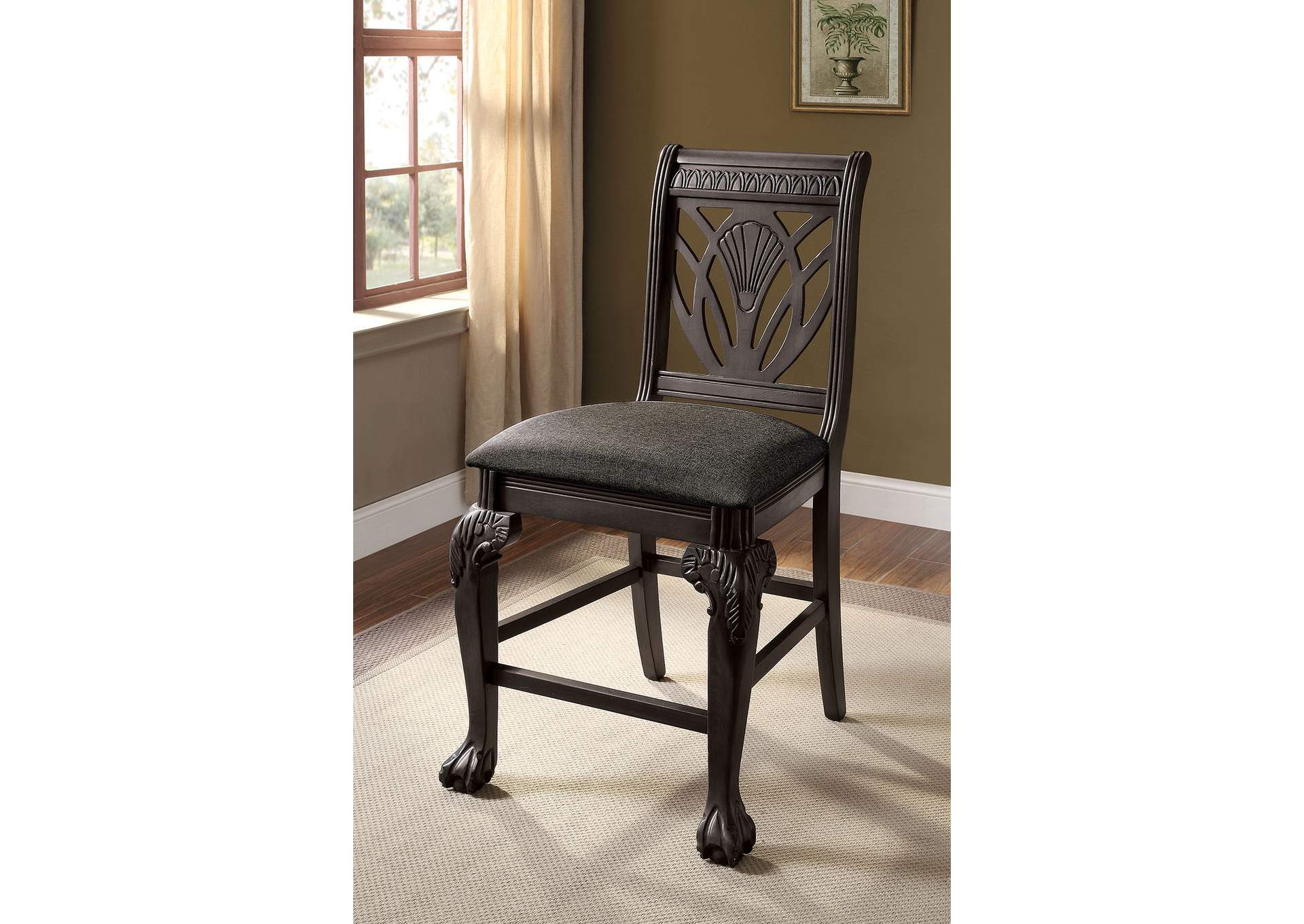 Petersburg Counter Chair (Set of 2),Furniture of America