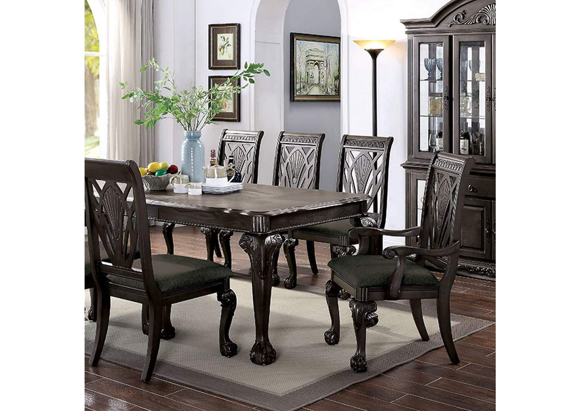 Petersburg Dark Gray Dining Table,Furniture of America