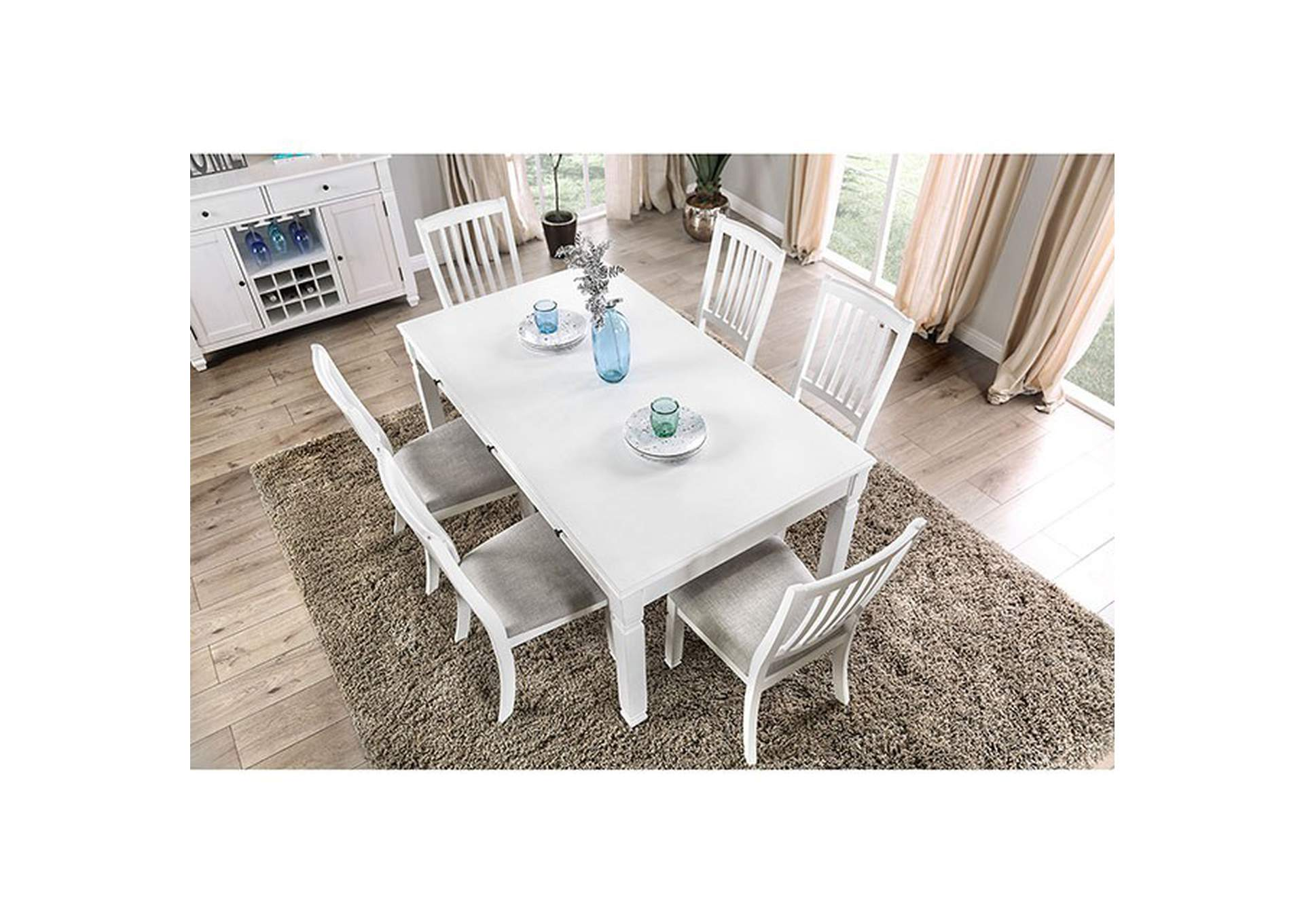 Kaliyah Antique White Dining Table,Furniture of America