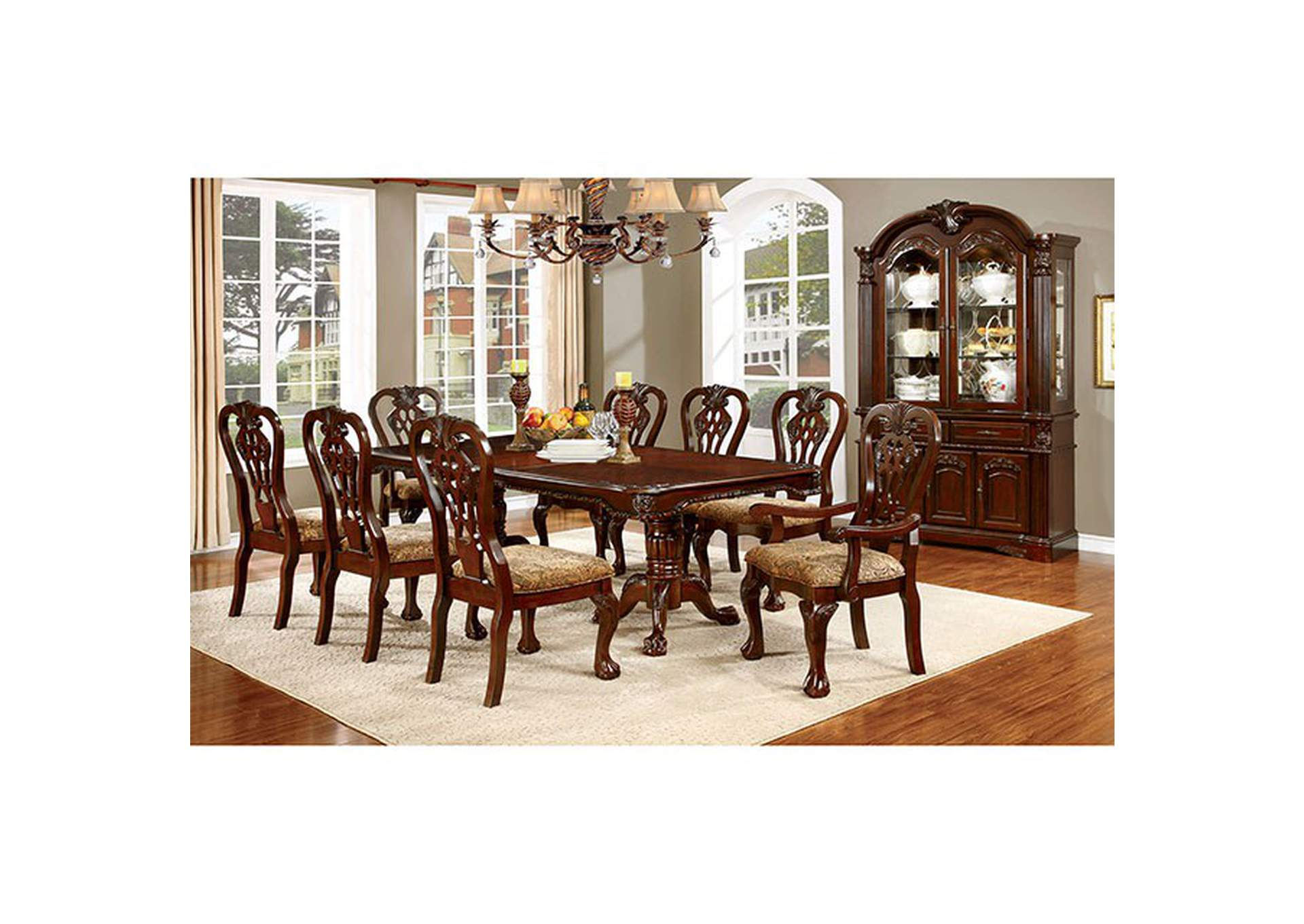 Elana Brown Cherry Dining Table,Furniture of America