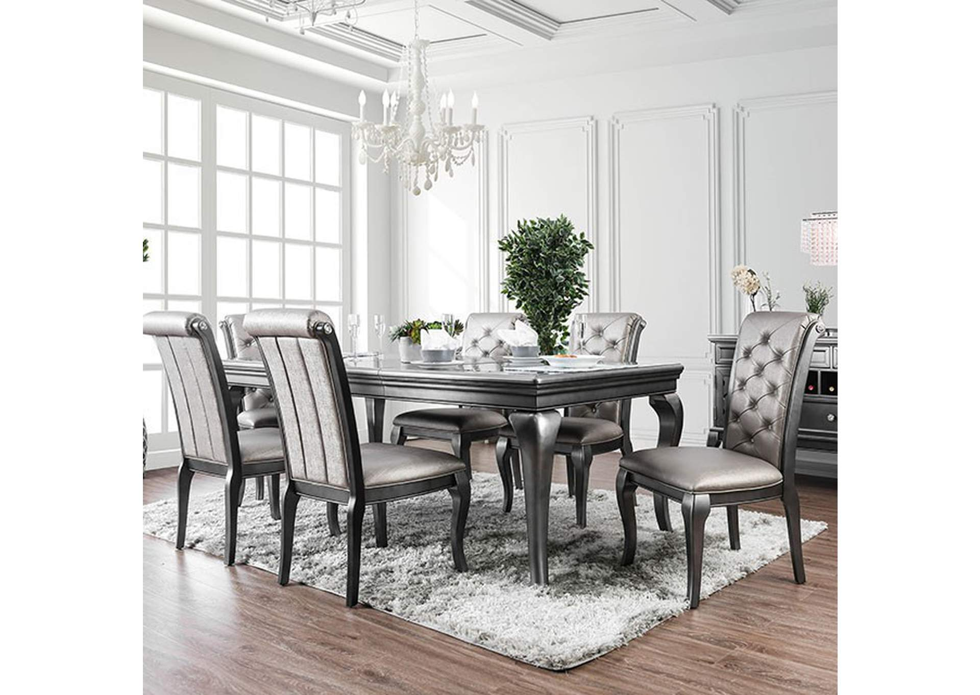 Amina Gray Dining Table,Furniture of America