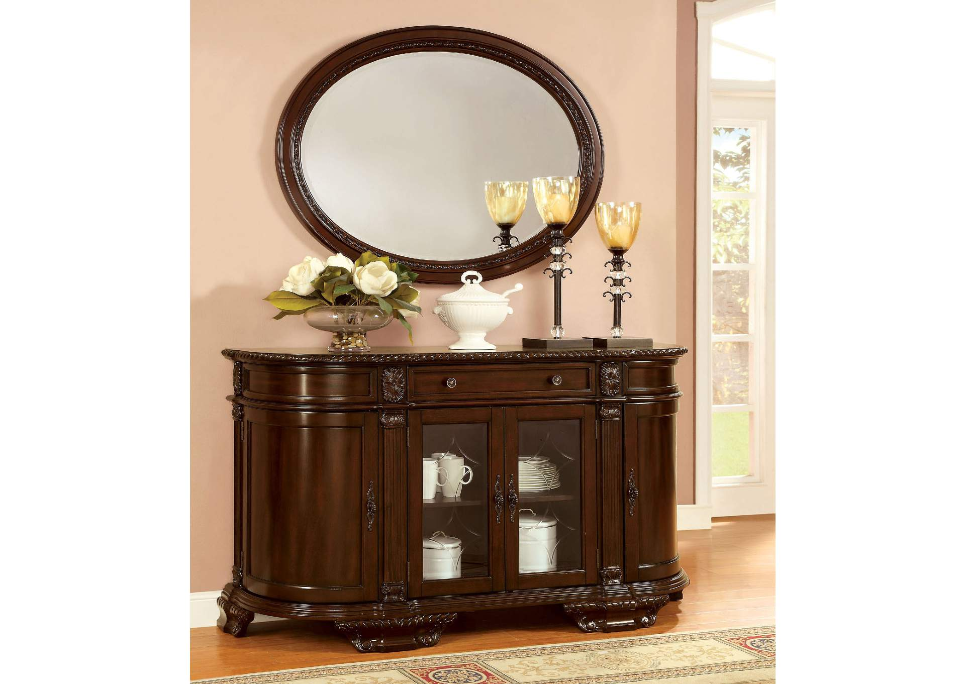 Bellagio Brown Mirror,Furniture of America