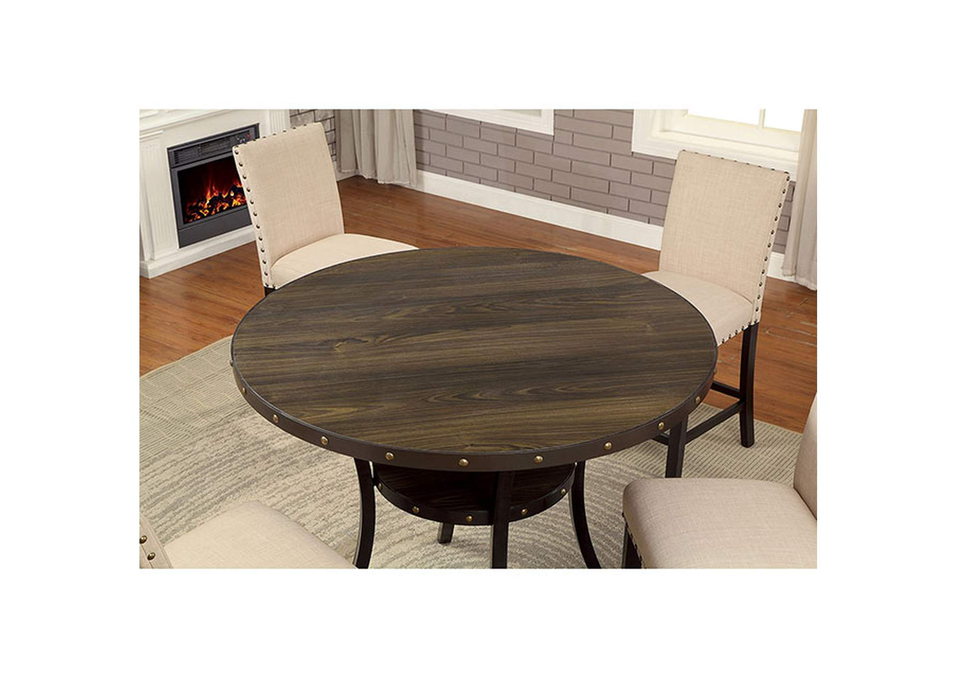 Kaitlin Light Walnut Counter Table,Furniture of America