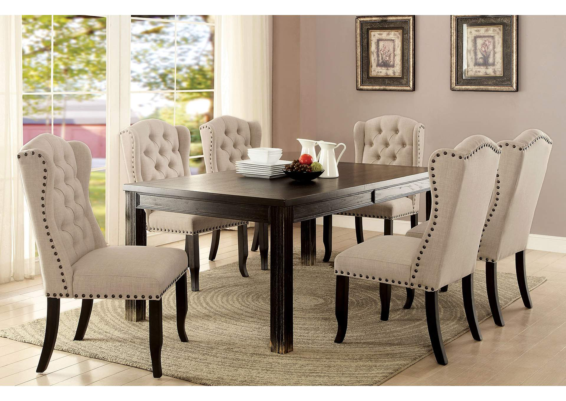"Sania I 84"" Dining Table,Furniture of America"