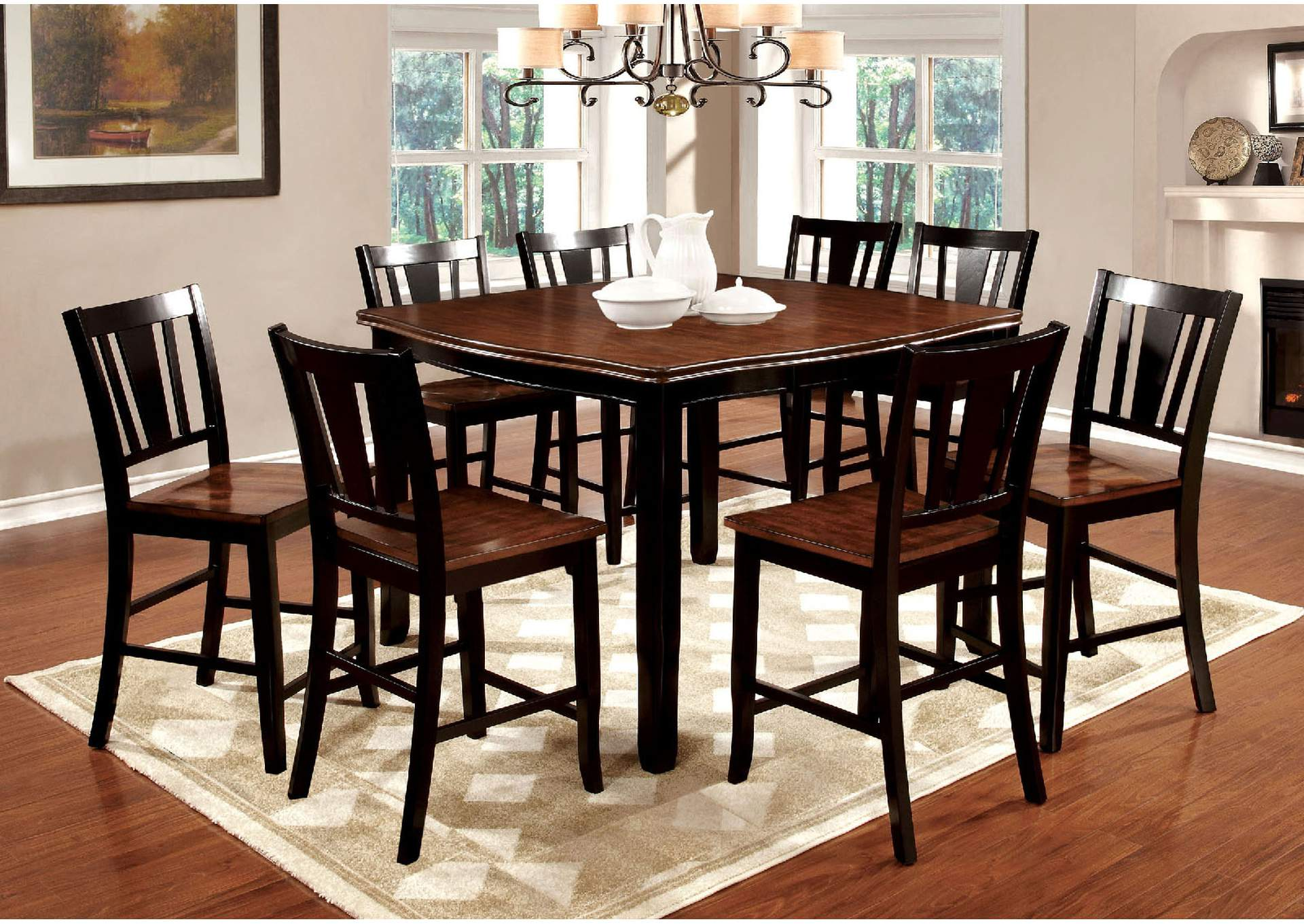 Dover II Black/Cherry Counter Table,Furniture of America