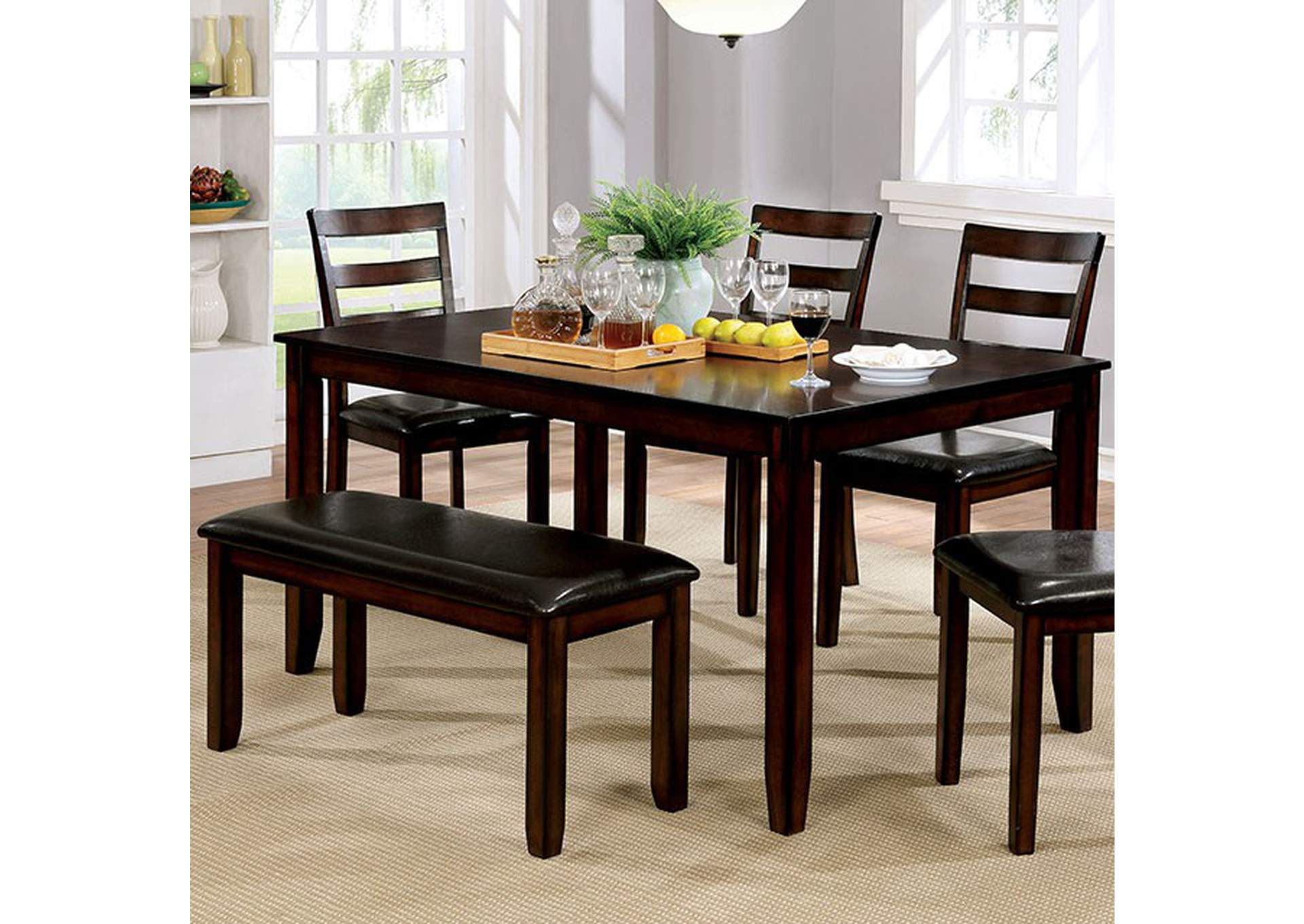 Gloria 6 Piece Dining Table Set,Furniture of America