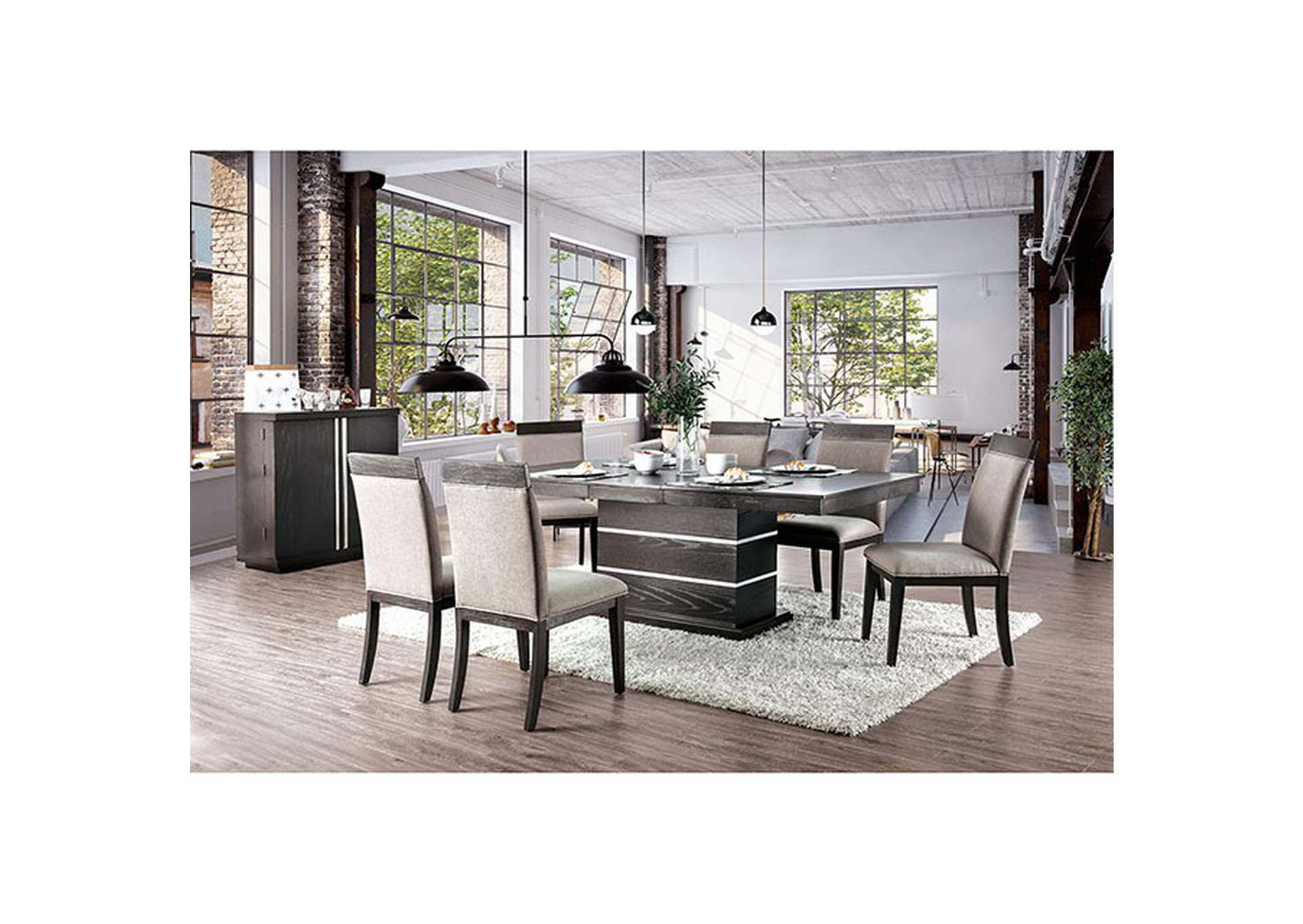 modoc Espresso Dining Table,Furniture of America