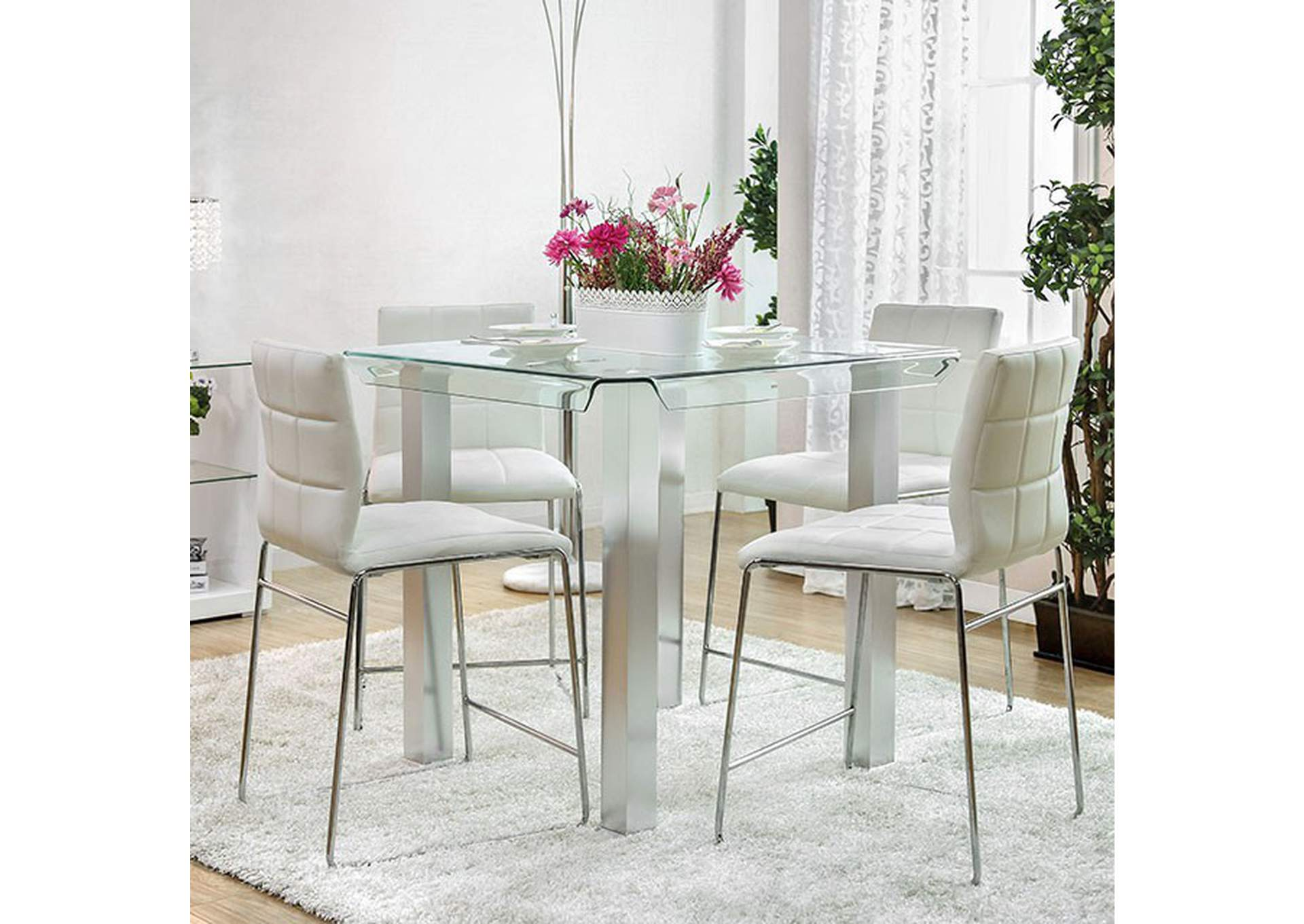 Richfield Silver Counter Height Table,Furniture of America