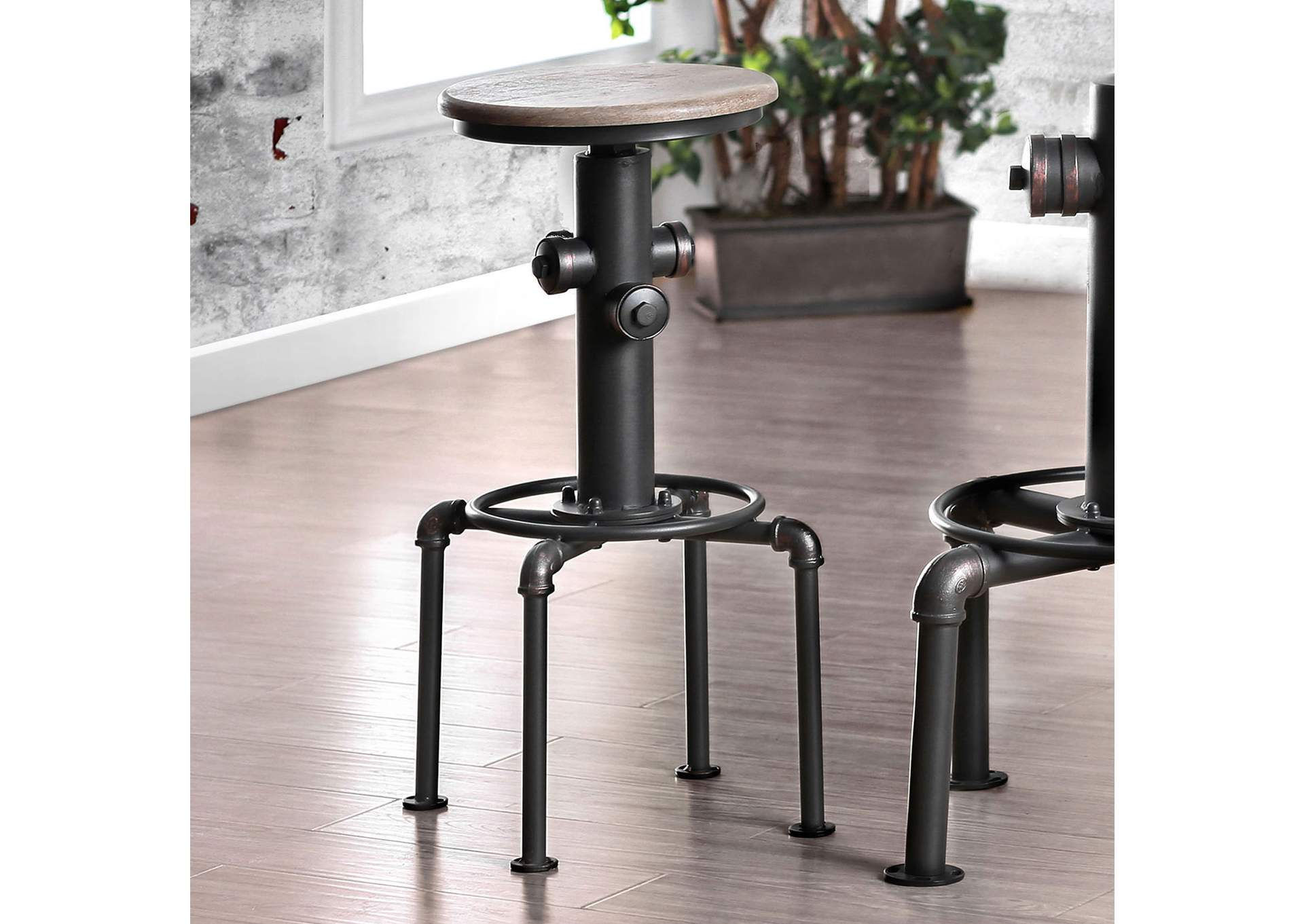 Foskey Antique Black Bar Chair [Set of 2],Furniture of America