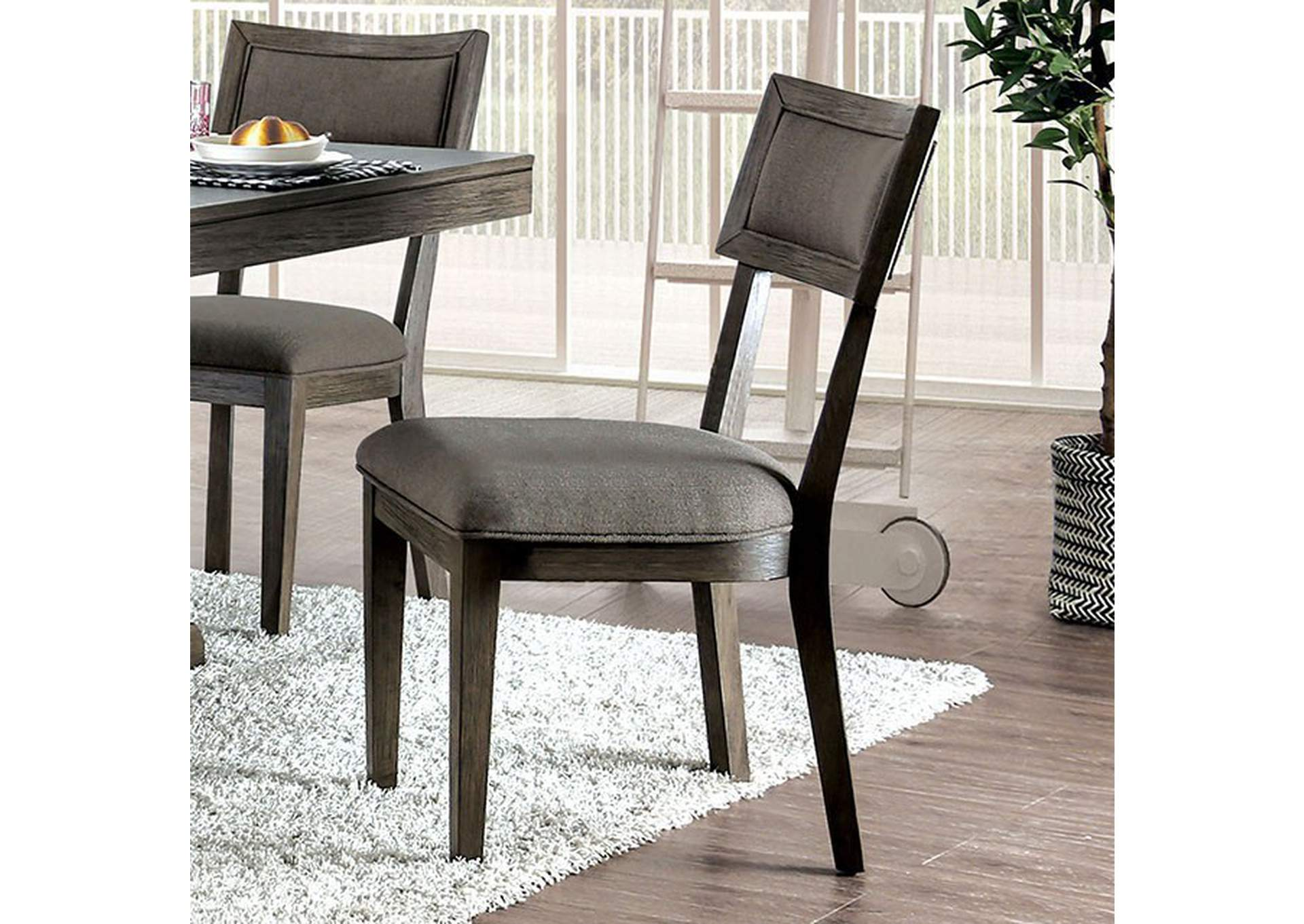 Leeds Gray Side Chair [Set of 2],Furniture of America
