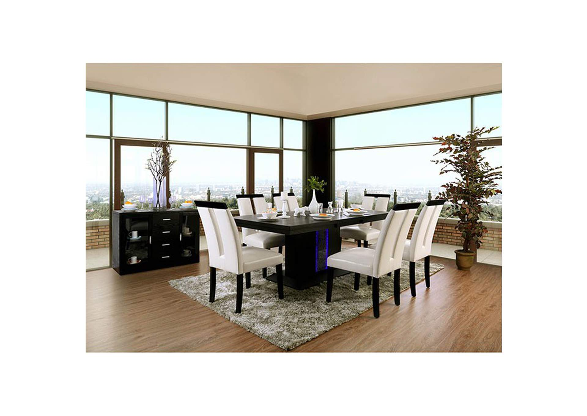 Evangeline Black Dining Table,Furniture of America