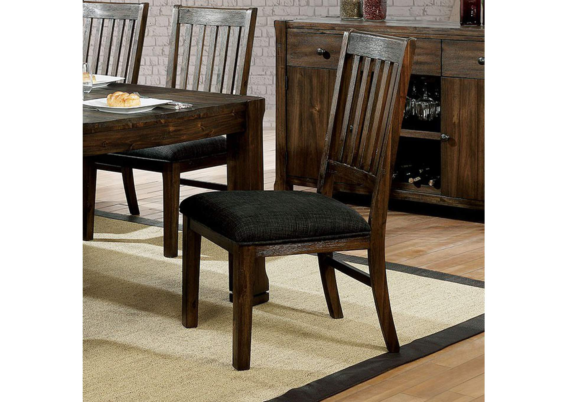 Scranton Walnut Side Chair [Set of 2],Furniture of America