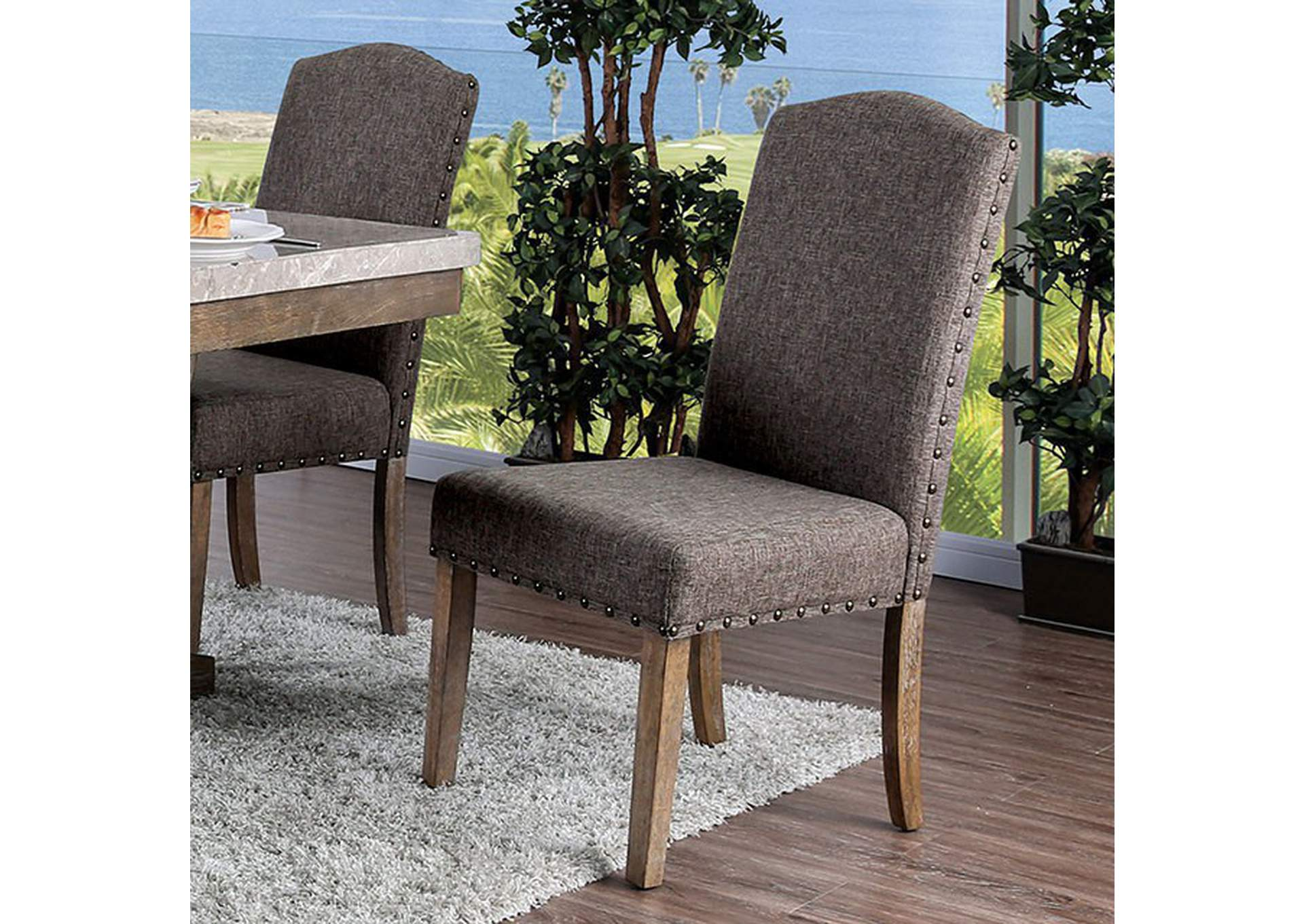 Bridgen Natural Side Chair [Set of 2],Furniture of America