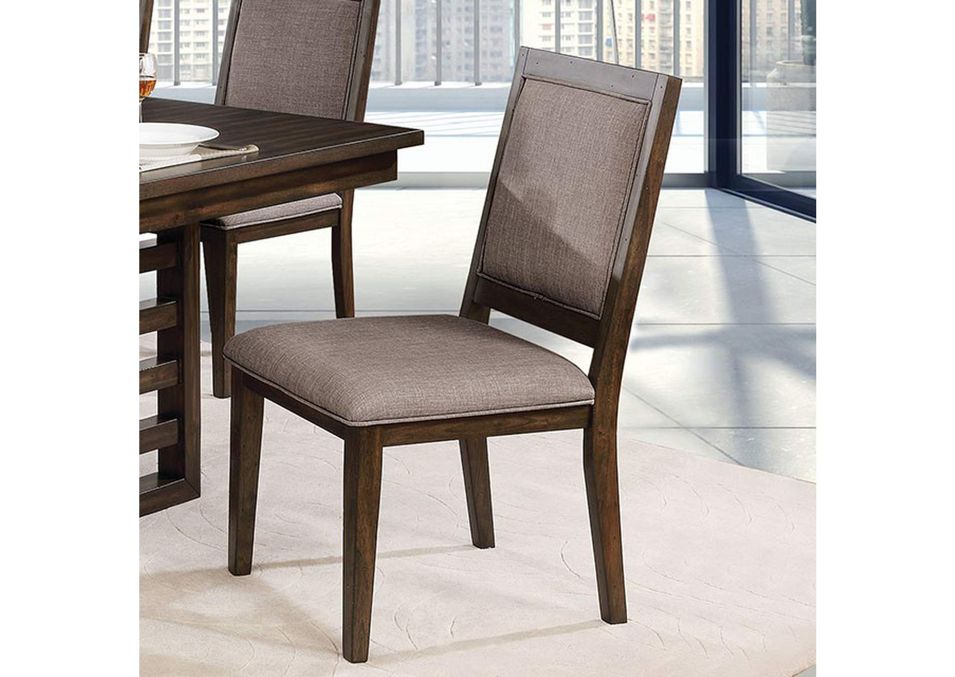 Ryegate Walnut Side Chair [Set of 2],Furniture of America