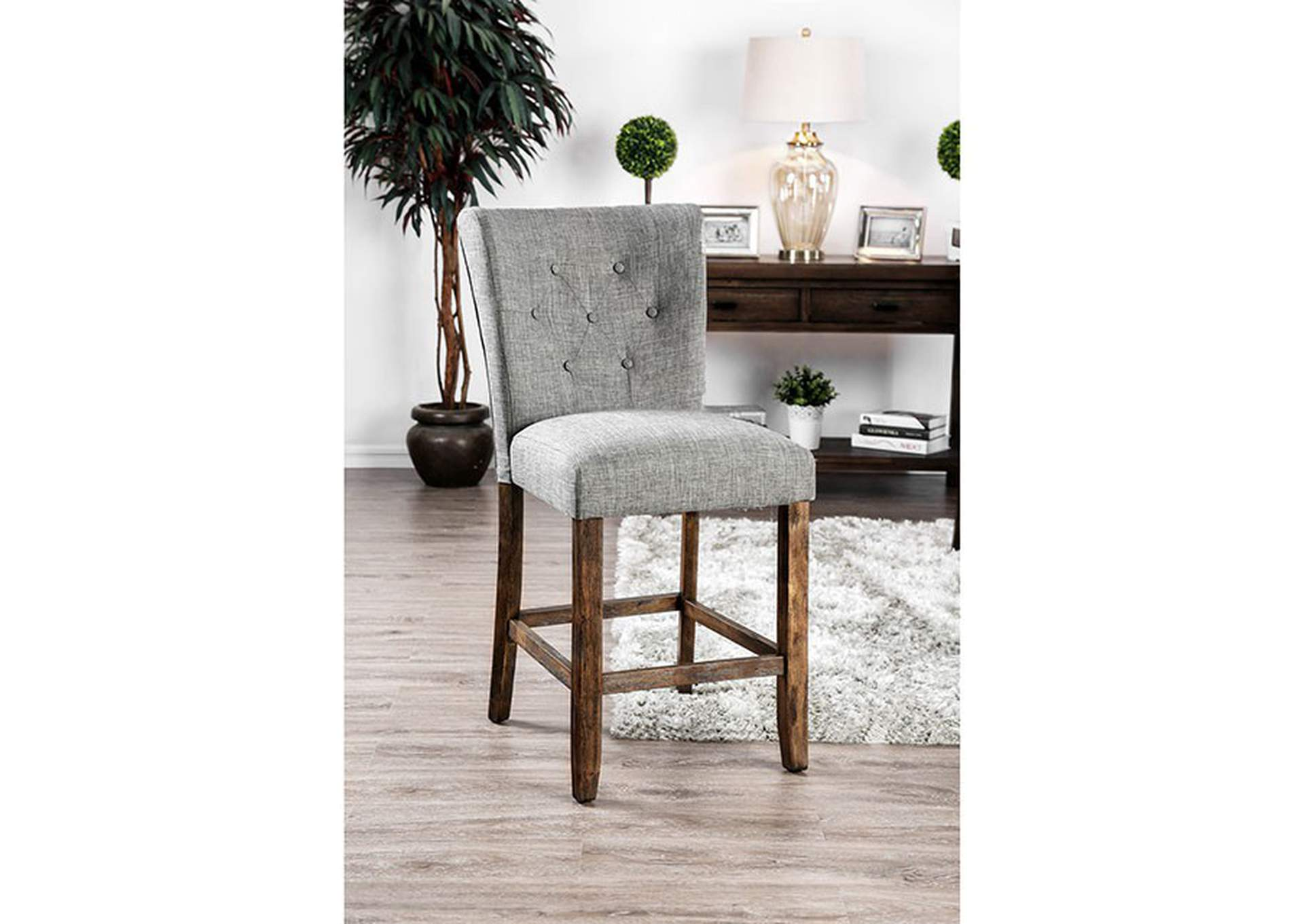 Schoten Gray Counter Height Chair [Set of 2],Furniture of America