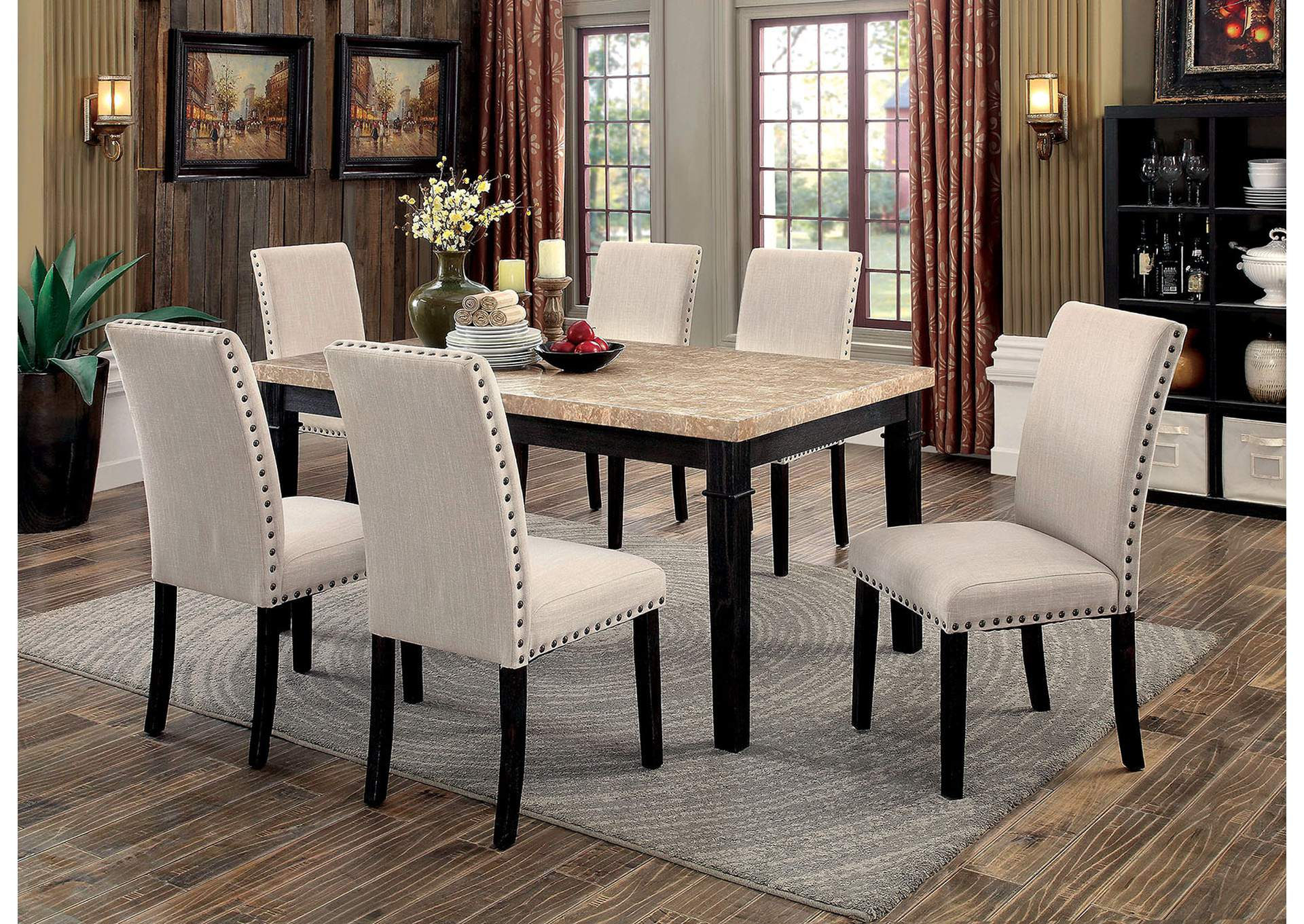 Dodson Black Dining Table,Furniture of America