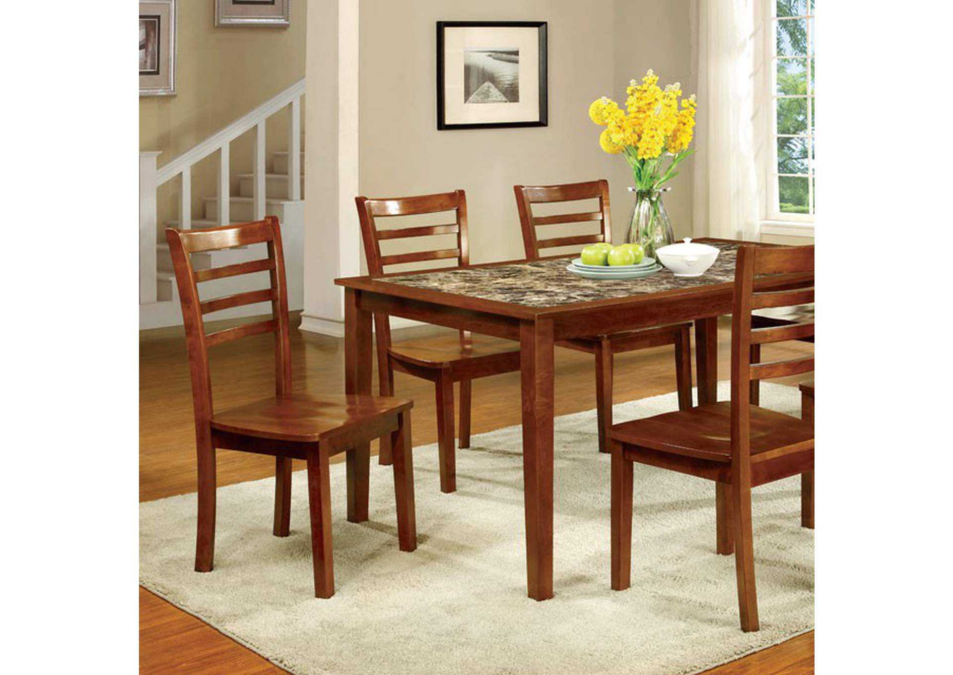 Fordville I Antique Oak 7 Piece. Dining Set,Furniture of America