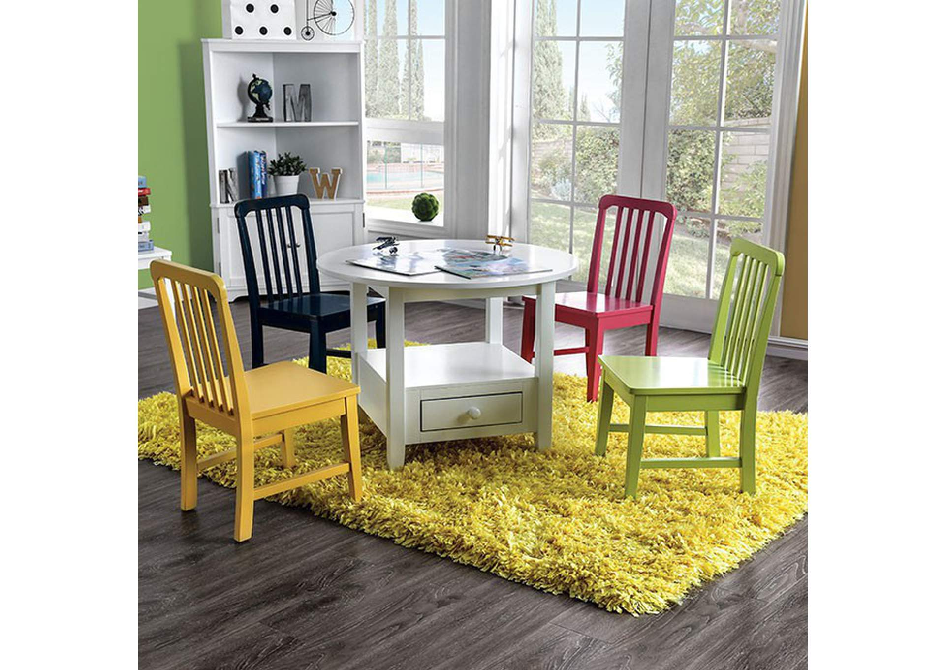 Casey White Kids Table Set,Furniture of America